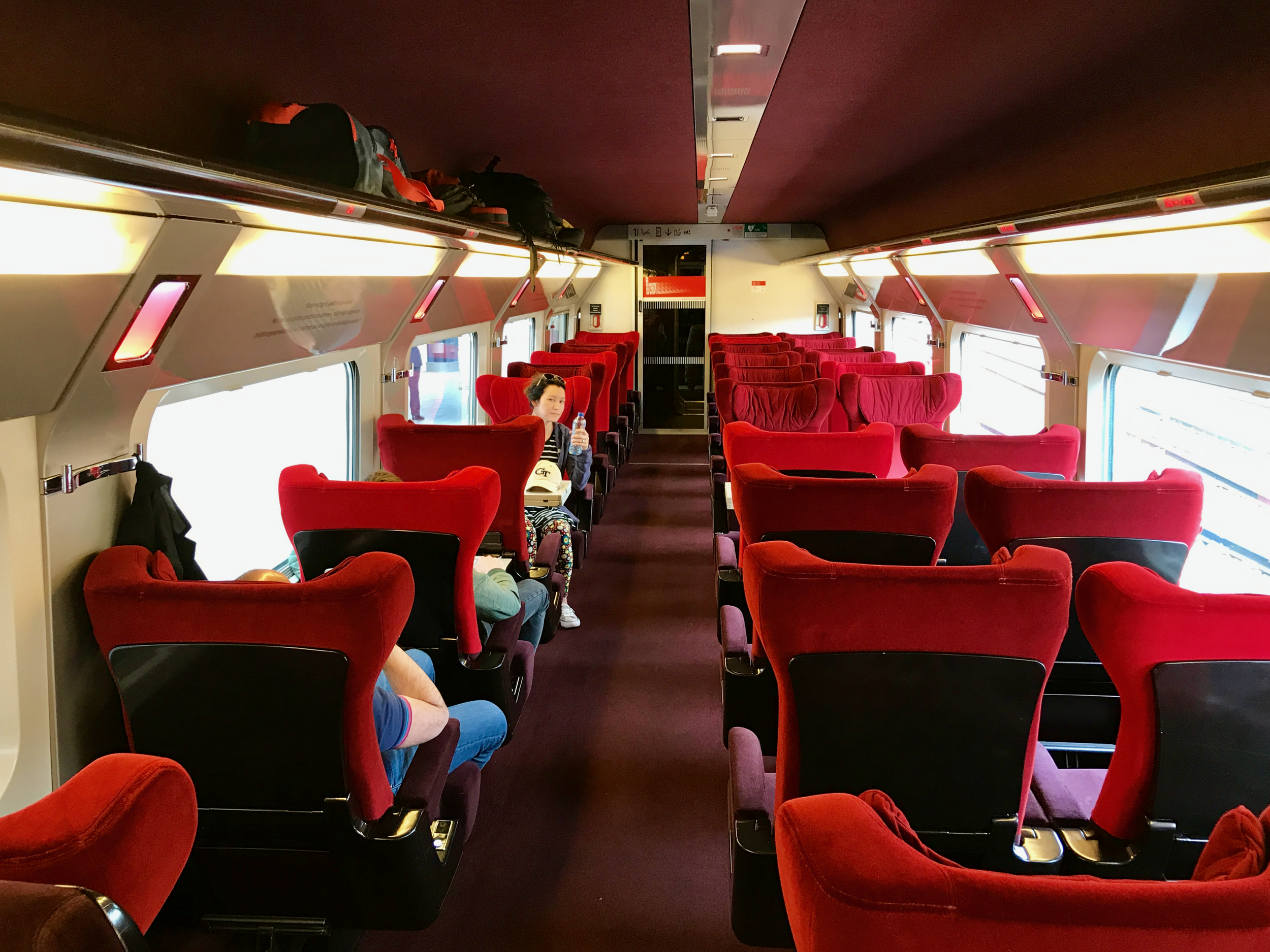 Thalys First Class carriage  (click to enlarge)