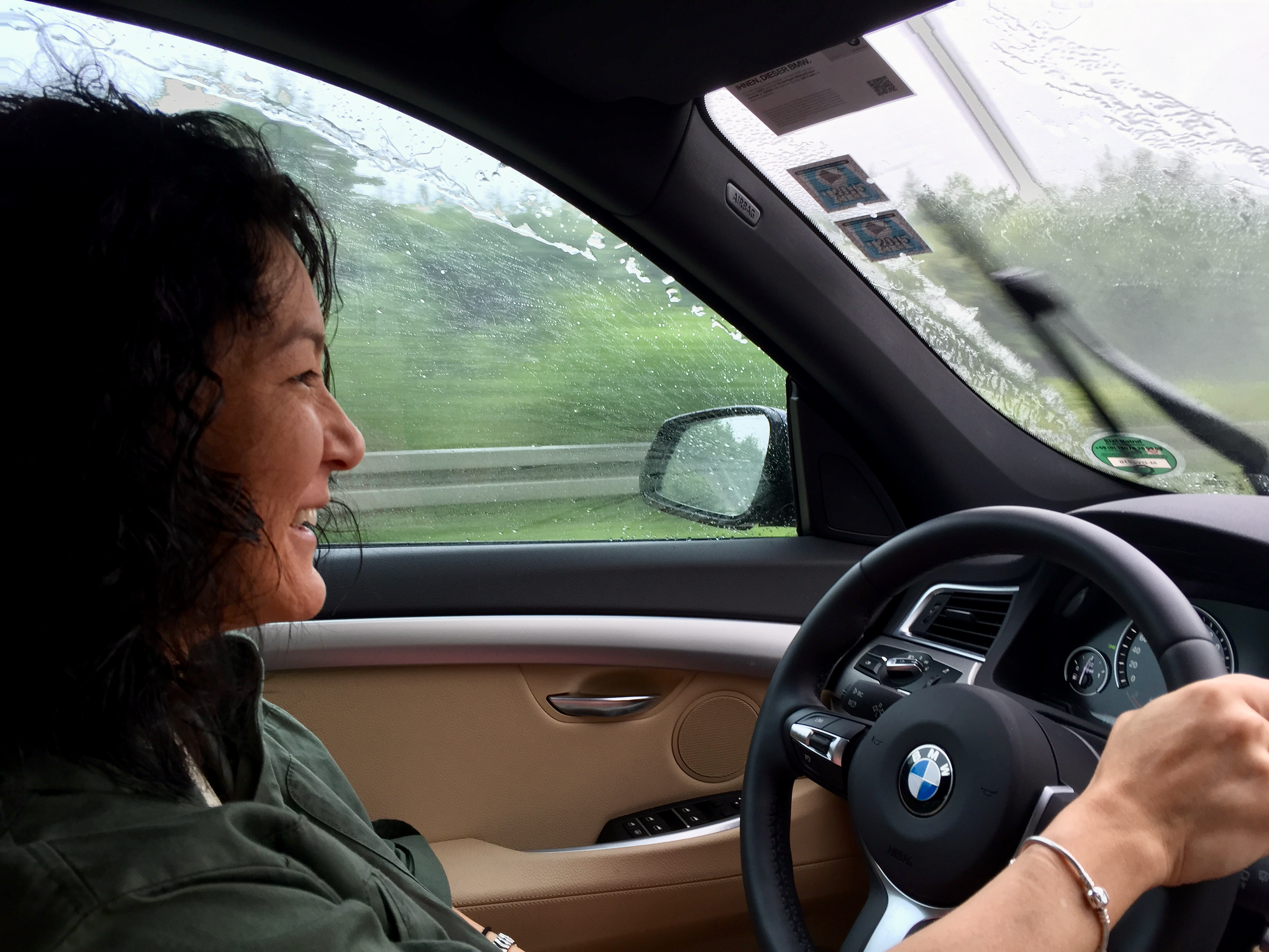 Mrs. Debrian Travels seemed to enjoy driving on the German Autobahn!  (click to enlarge)