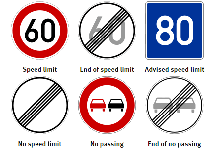German Autobahn traffic signs   (Photo:  Swinton Insurance )