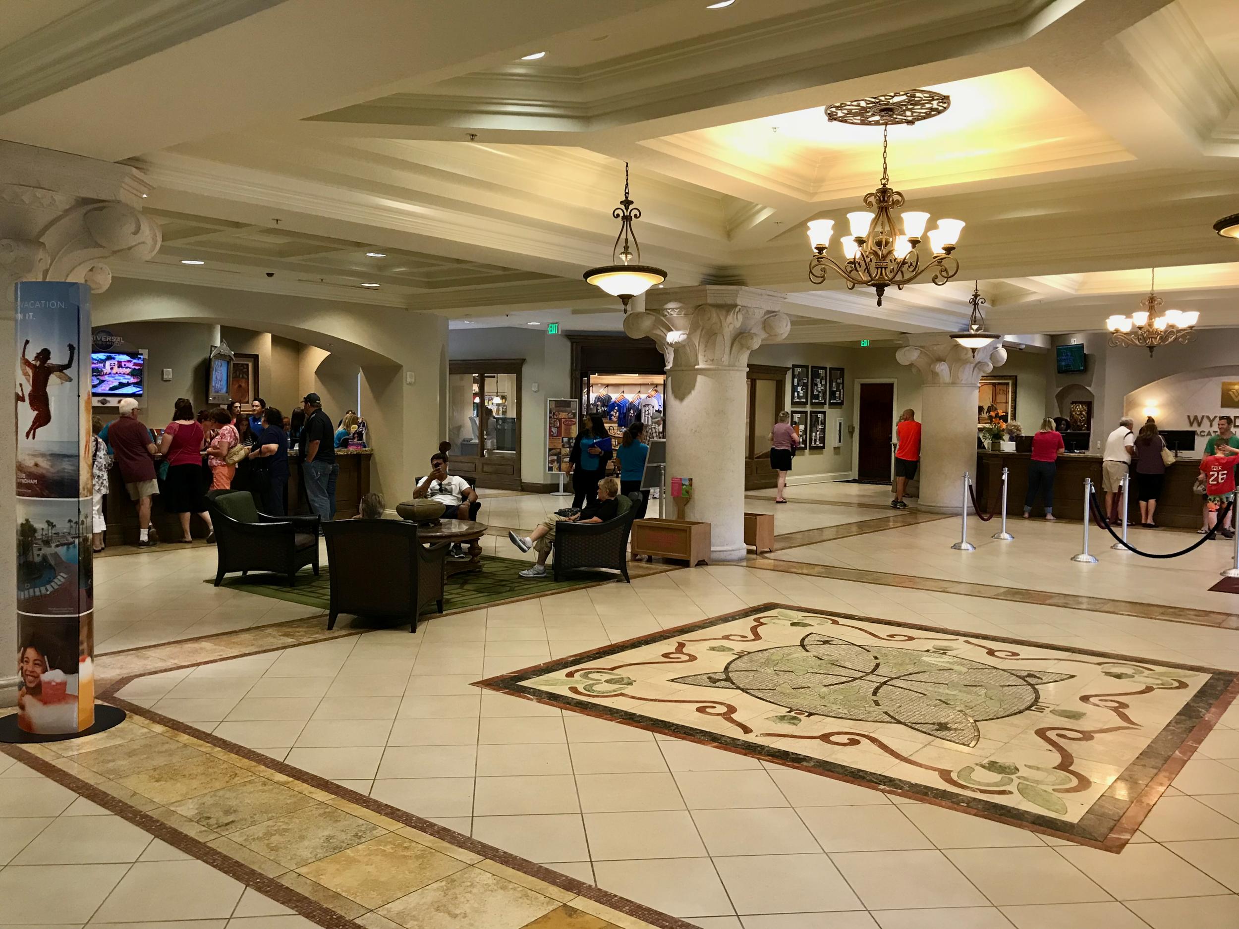 Wyndham Bonnet Creek Resort Visitors Center reception lobby