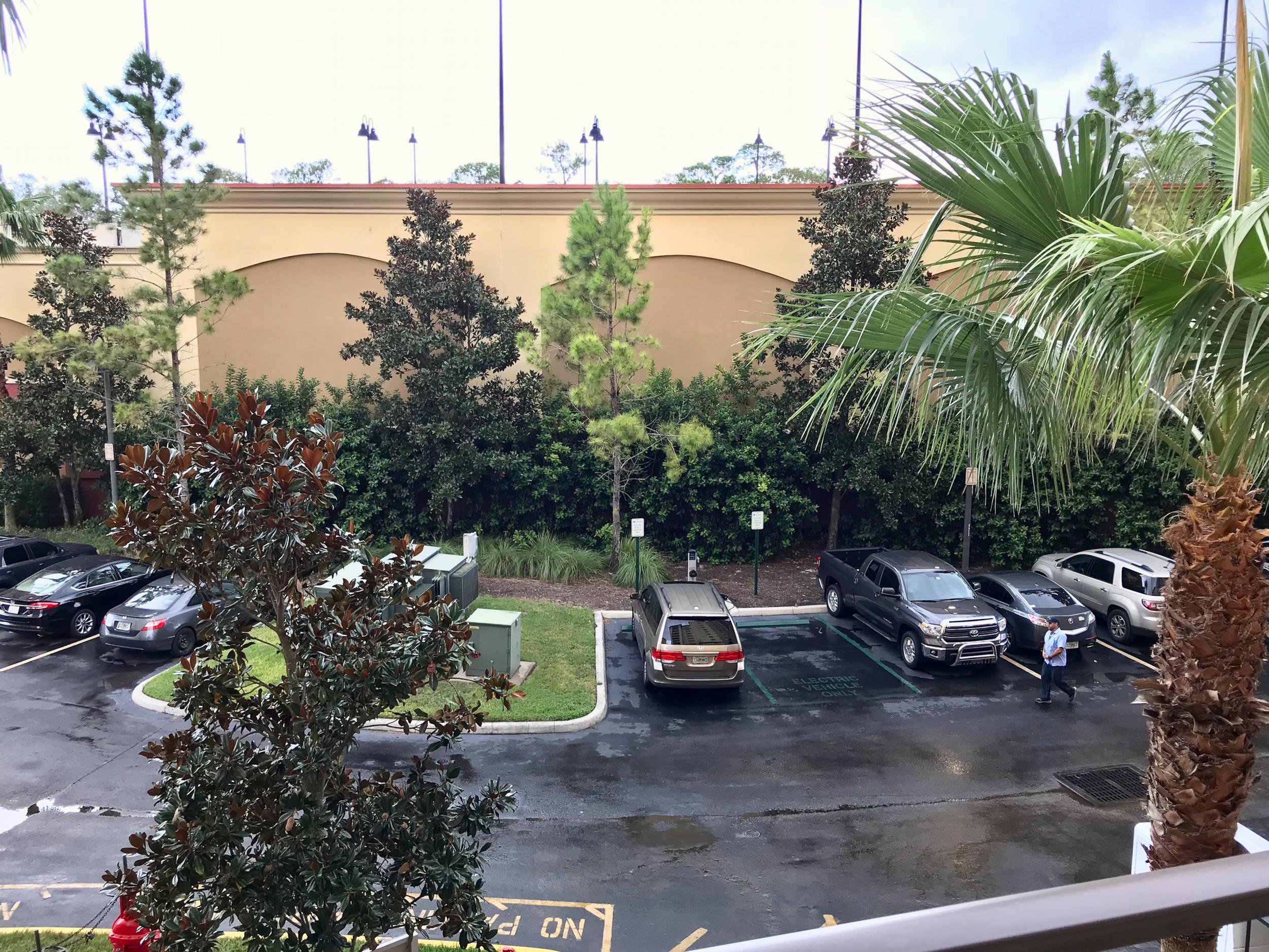 Condo balcony view
