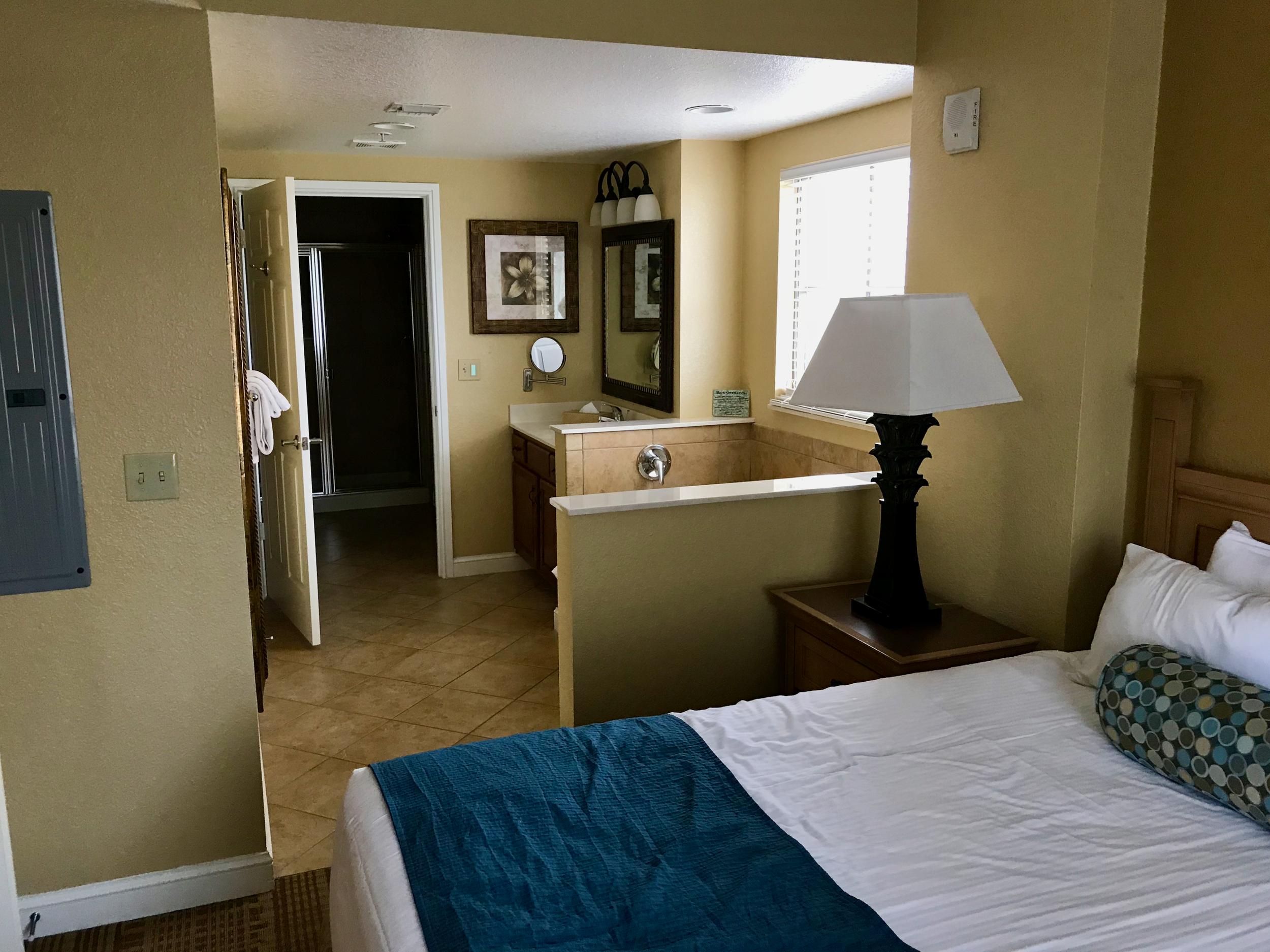 Condo master bedroom and bath  (click to enlarge)