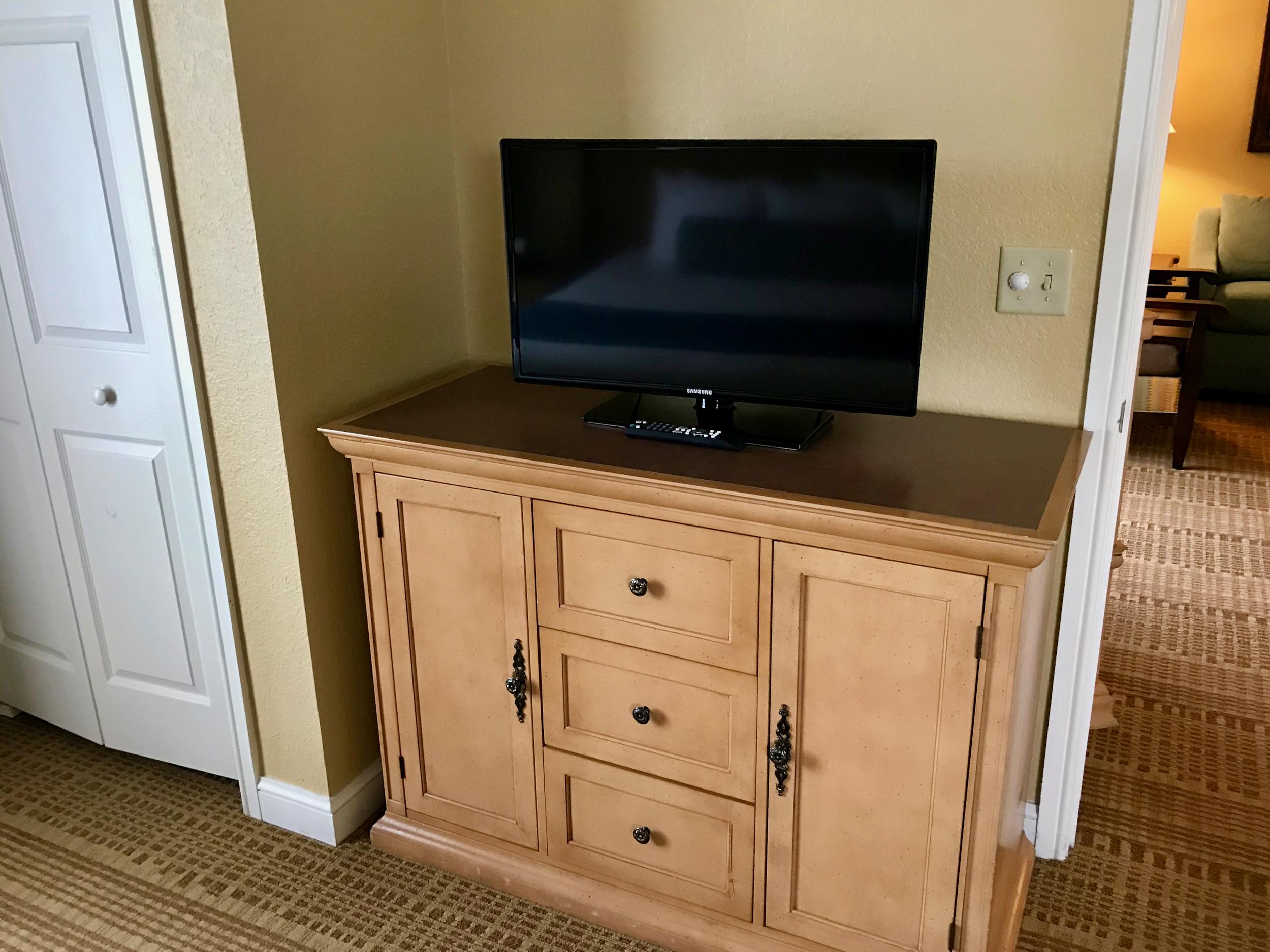 Condo master bedroom television