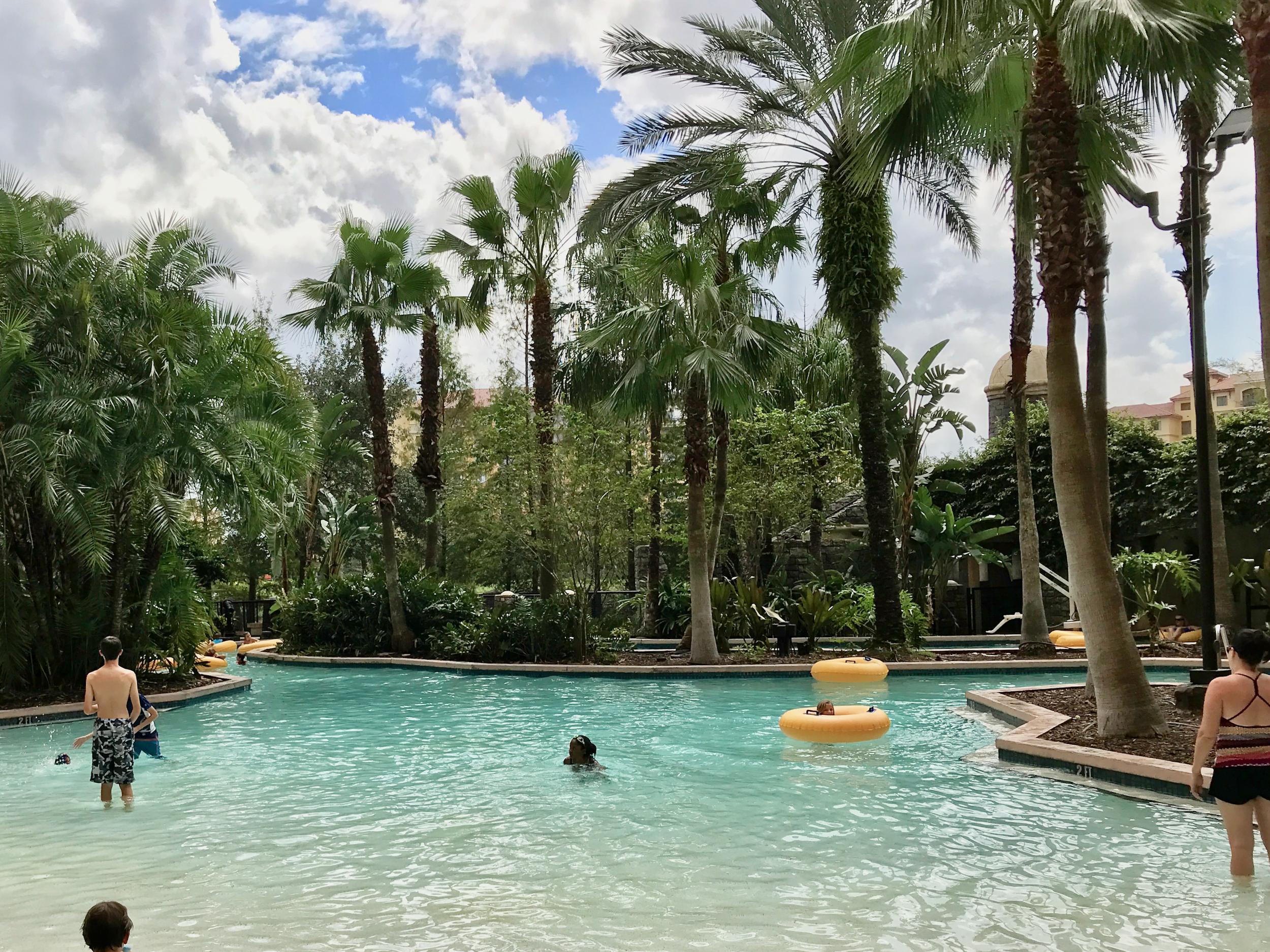 Lazy river lagoon outside Tower 5