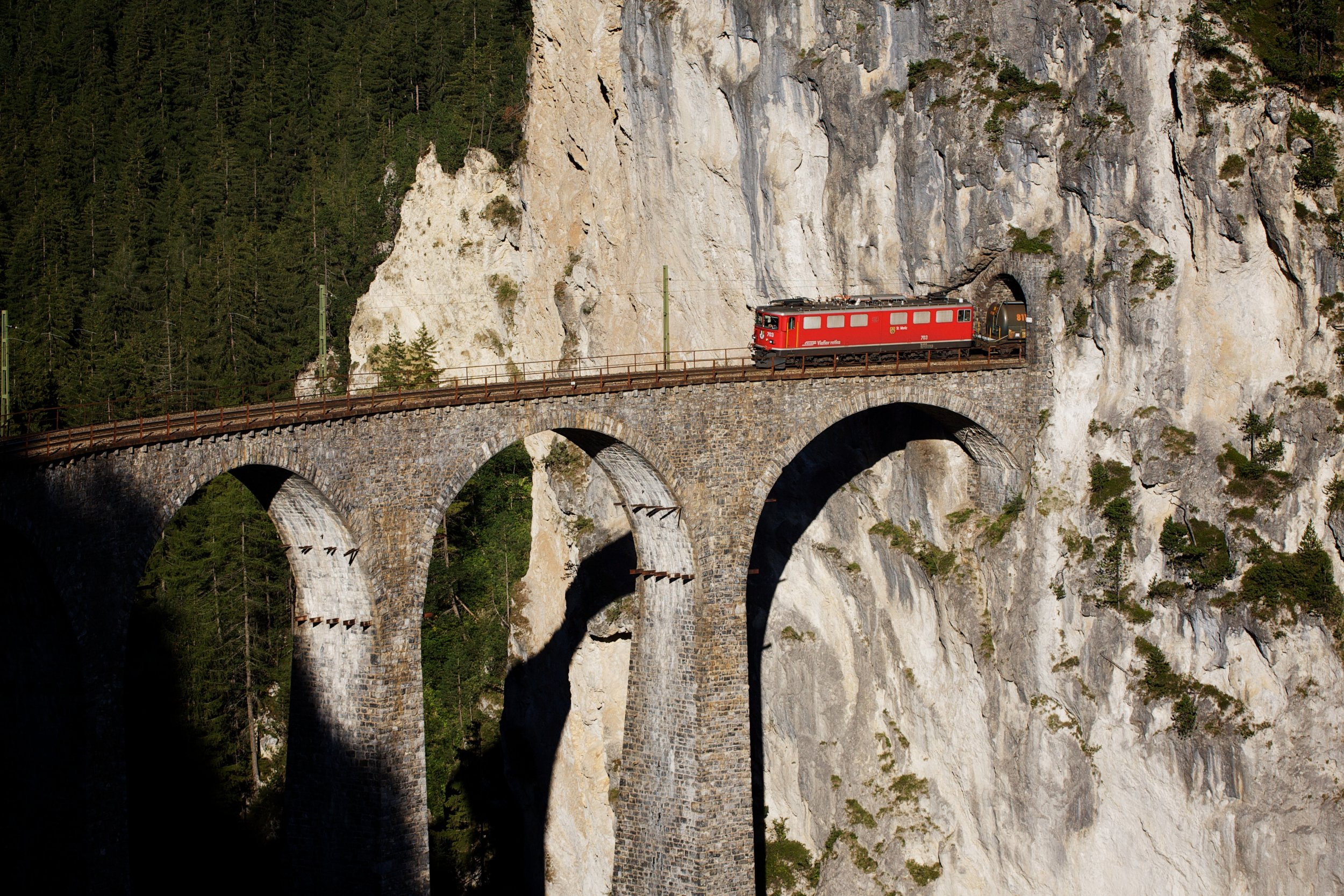 I have dreamed of riding across the Landwasser Viaduct since seeing it in a YouTube video five years ago!   (Photo:    Andreas Ravn Møller   )  (Click to enlarge)