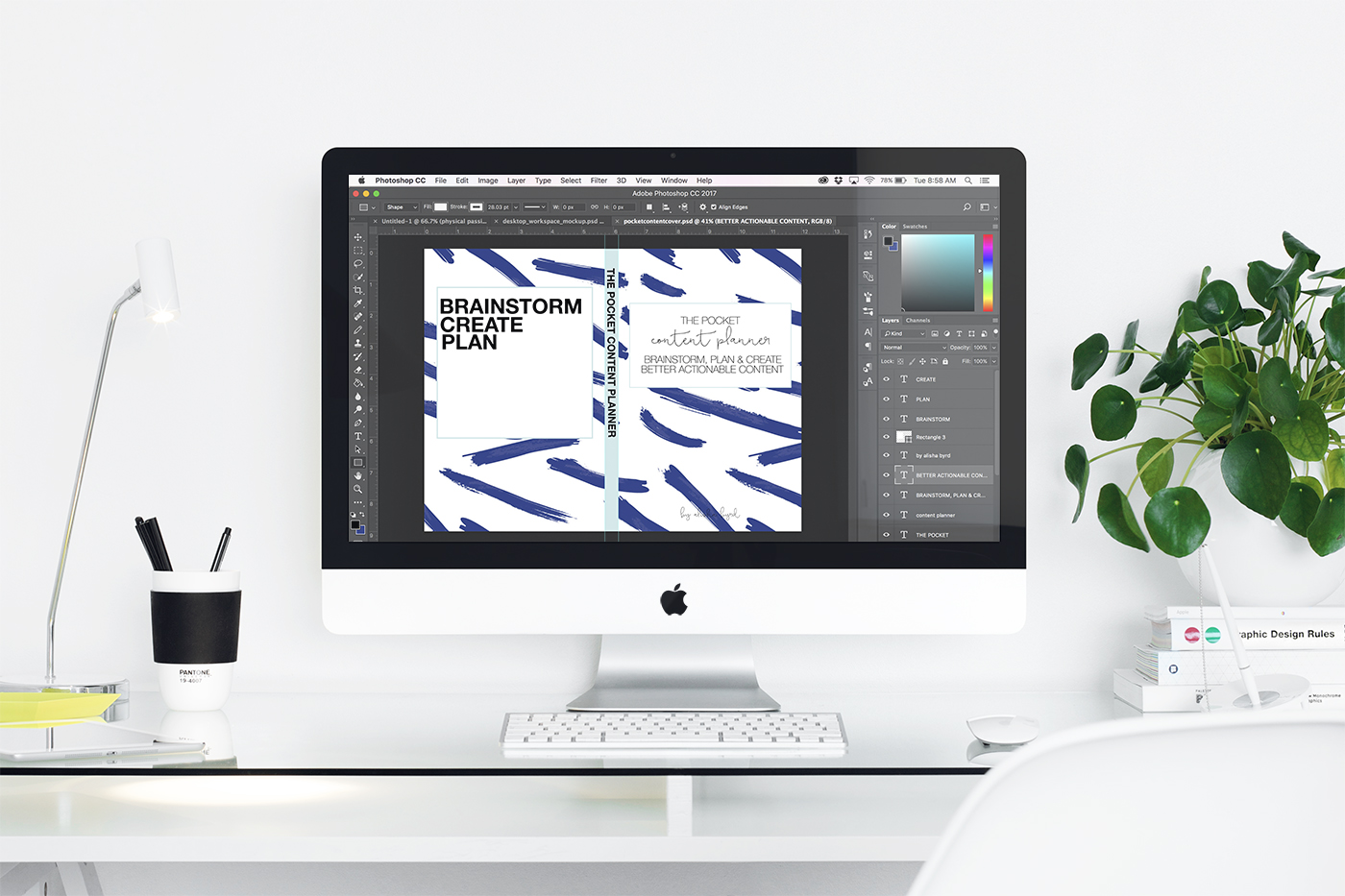 snag your spot - You'll immediately receive access to the 6 video lessons, full video walk through of Adobe InDesign & Photoshop, worksheets to use with the lessons and lifetime access to the class plus any future updates.