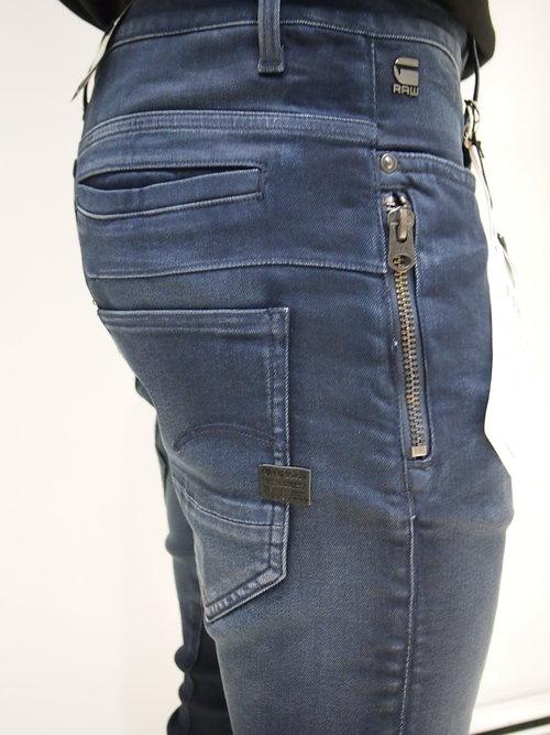6e6fb849 G-Star Raw D-staq Zip 3D Slim Jeans - Blue Stretch Dk Aged Cobbler