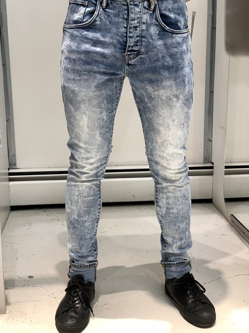 9352eba5 Purple Brand P002 Dropped Fit Jeans - Blue Marble Wash