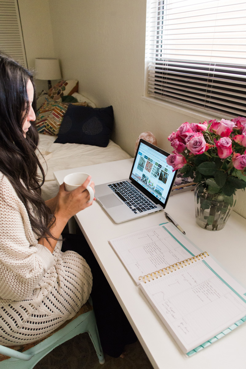 Tips for working from home, lifestyle blog by Alexandria Whitefeather