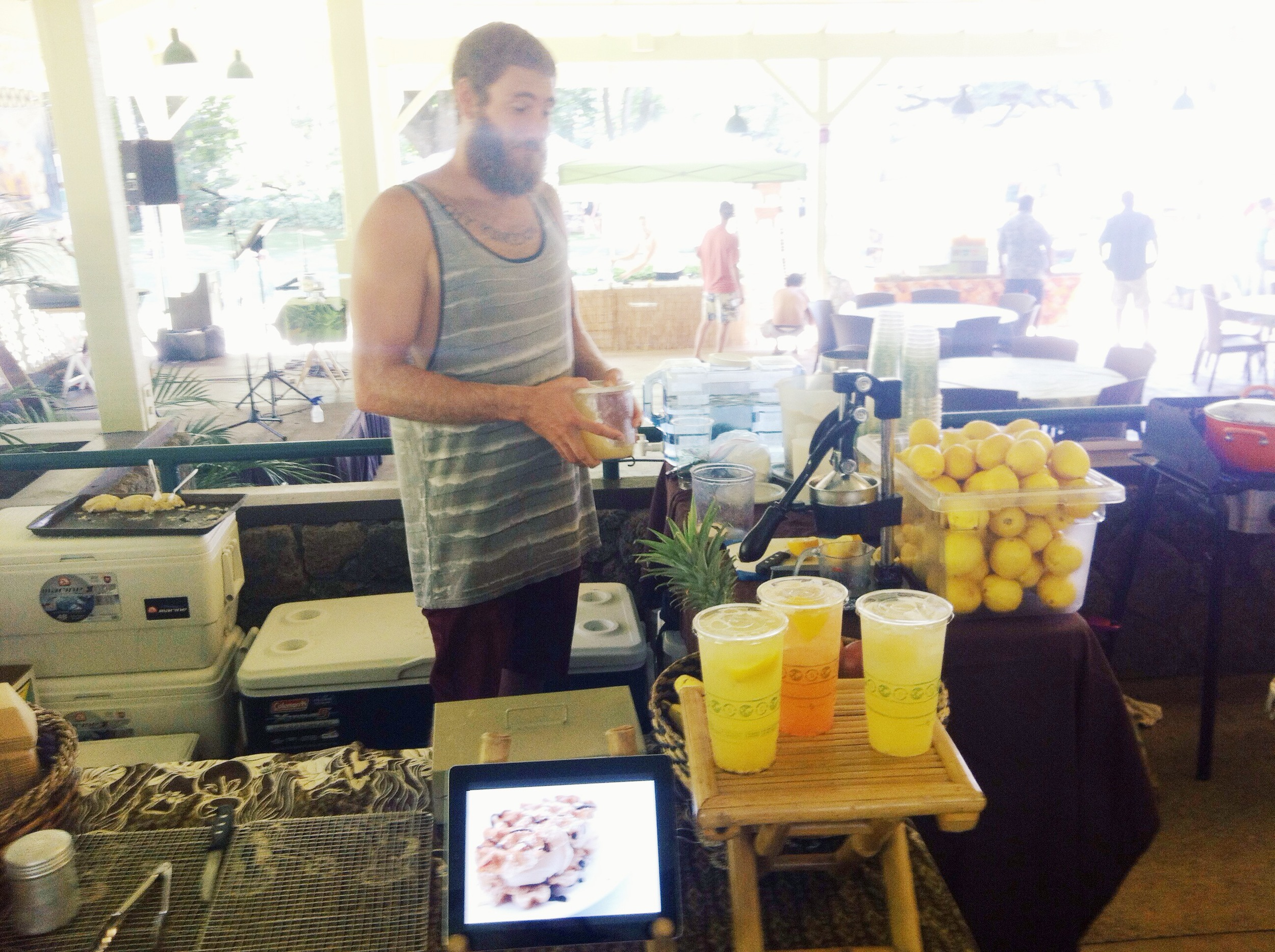 Kawika at one of our first farmers markets in Hawaii back in 2012