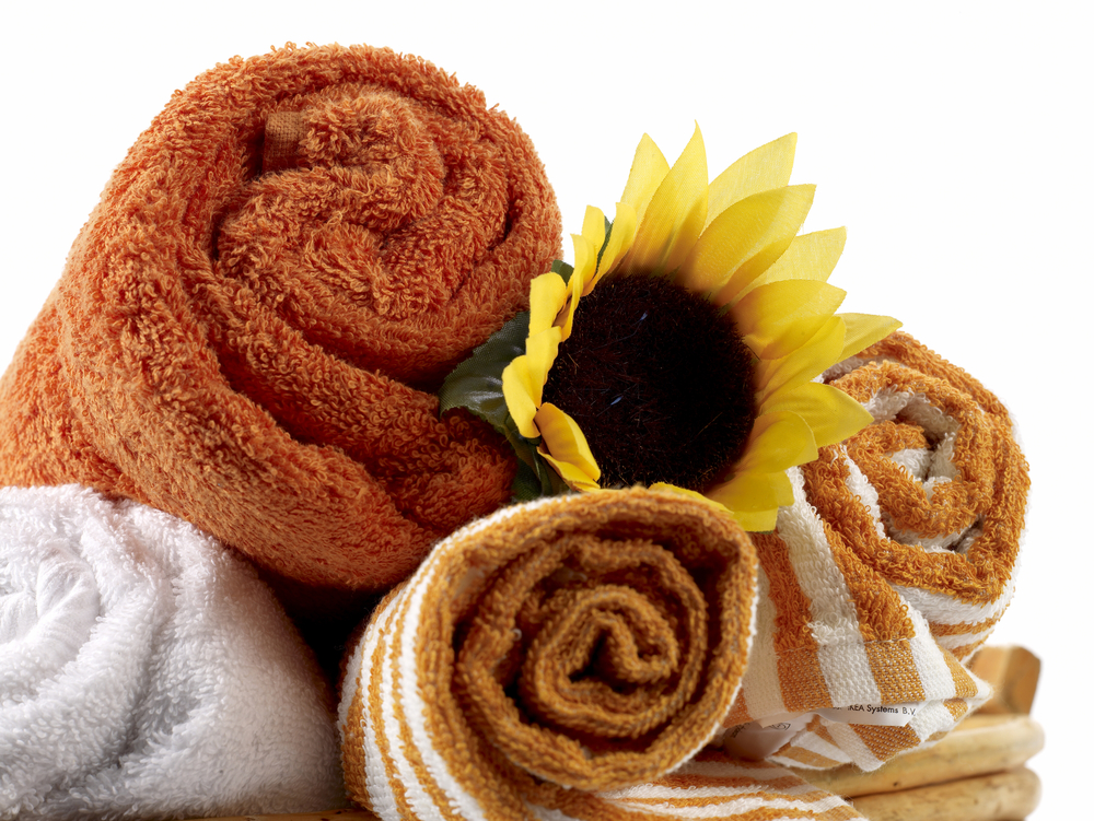 Bath Towels with Sunflower.jpg