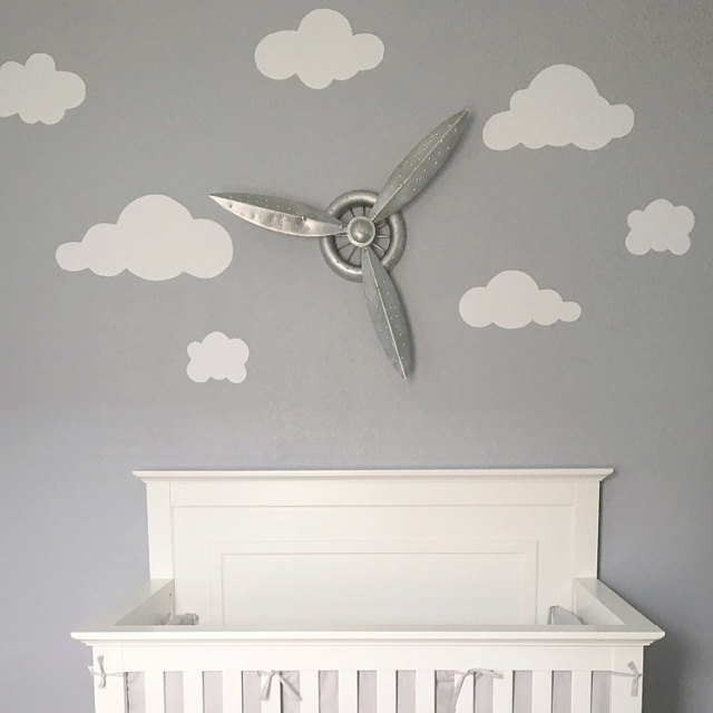 They turned out amazing in my up the sky themed nursery! Thank you :) - Caroline M.