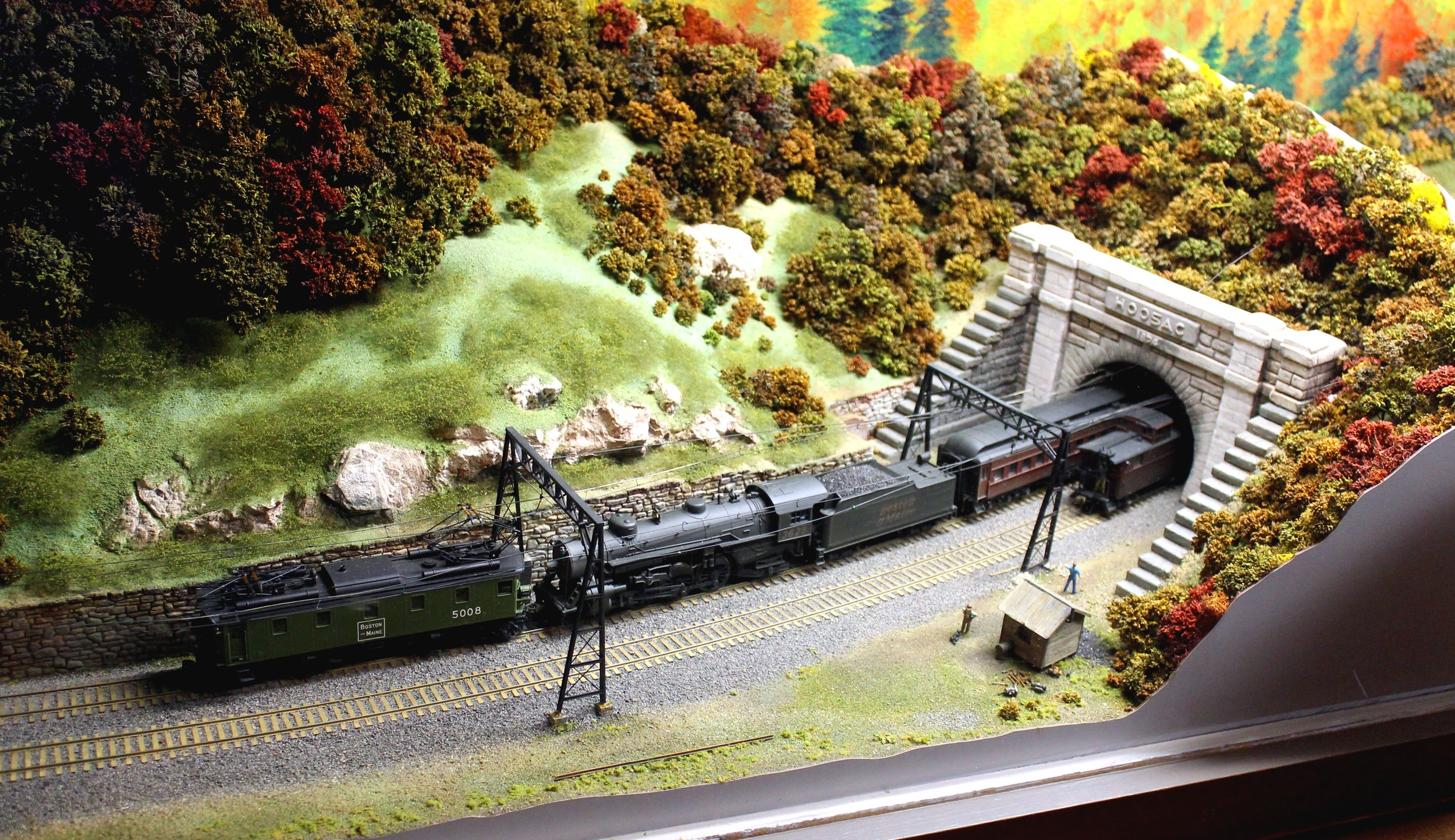 HO Model of west portal of Hoosac Tunnel. Heritage State Park Museum, North Adams, Mass., June 25, 2016.  Photo taken and submitted by Mal Sockol.
