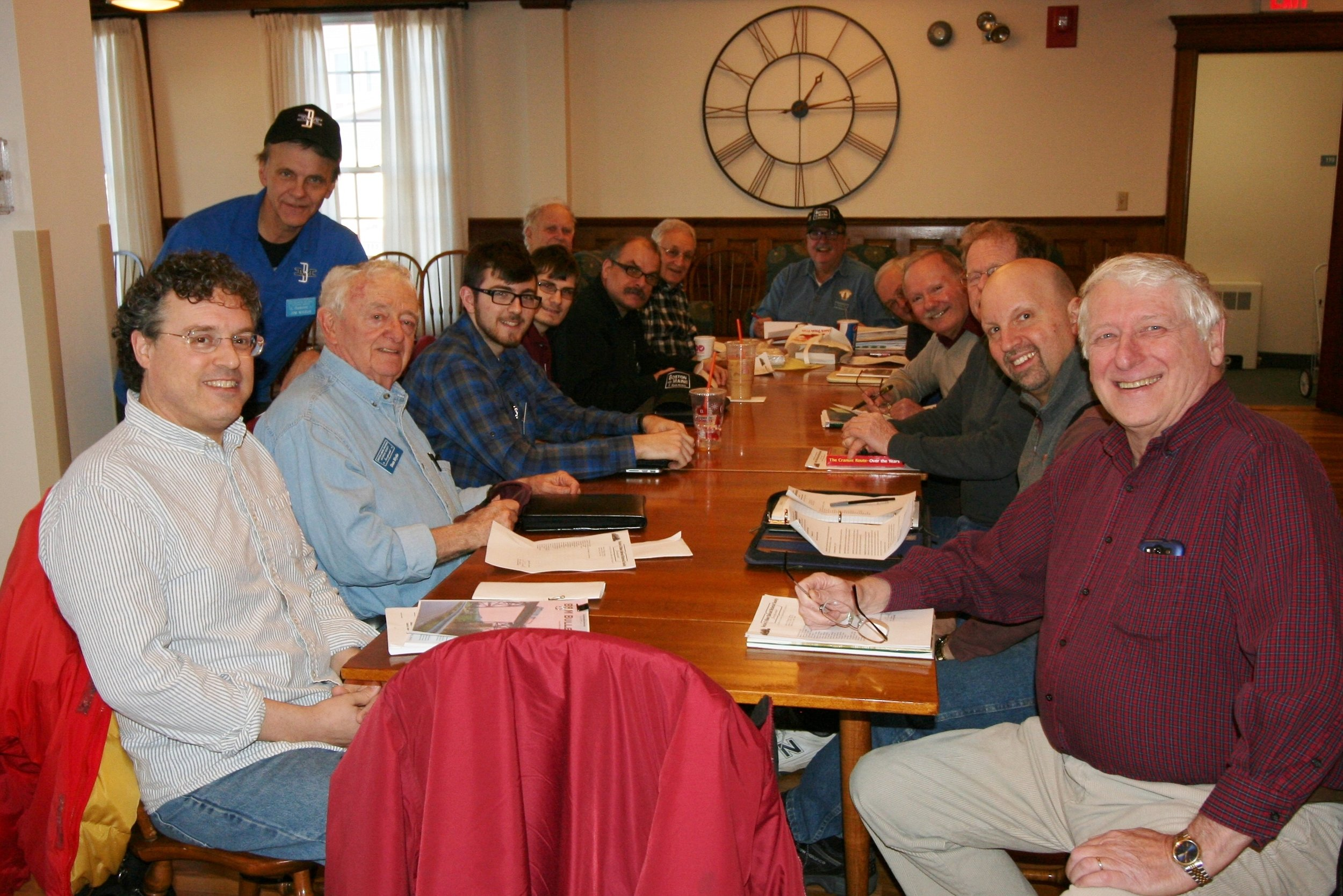 B&MRRHS officers, board members, and staff met at Rogers Hall, Lowell, Mass., January 14, 2017