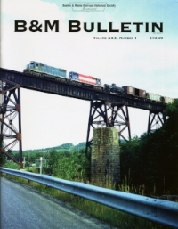 Volume XXX, No. 1 (2017)   The B&M's Future: Short Line empire, or Class I? CSX C40-8 locos acquired; Poland Springs water by rail; Positive Train Control; Wick Moorman at Amtrak; Conn River Line; Photos: Commuter Improvements.  Consists from the Car Books of Conductor Douglas M. Rice.  The Conn River: Colorful Railroading.