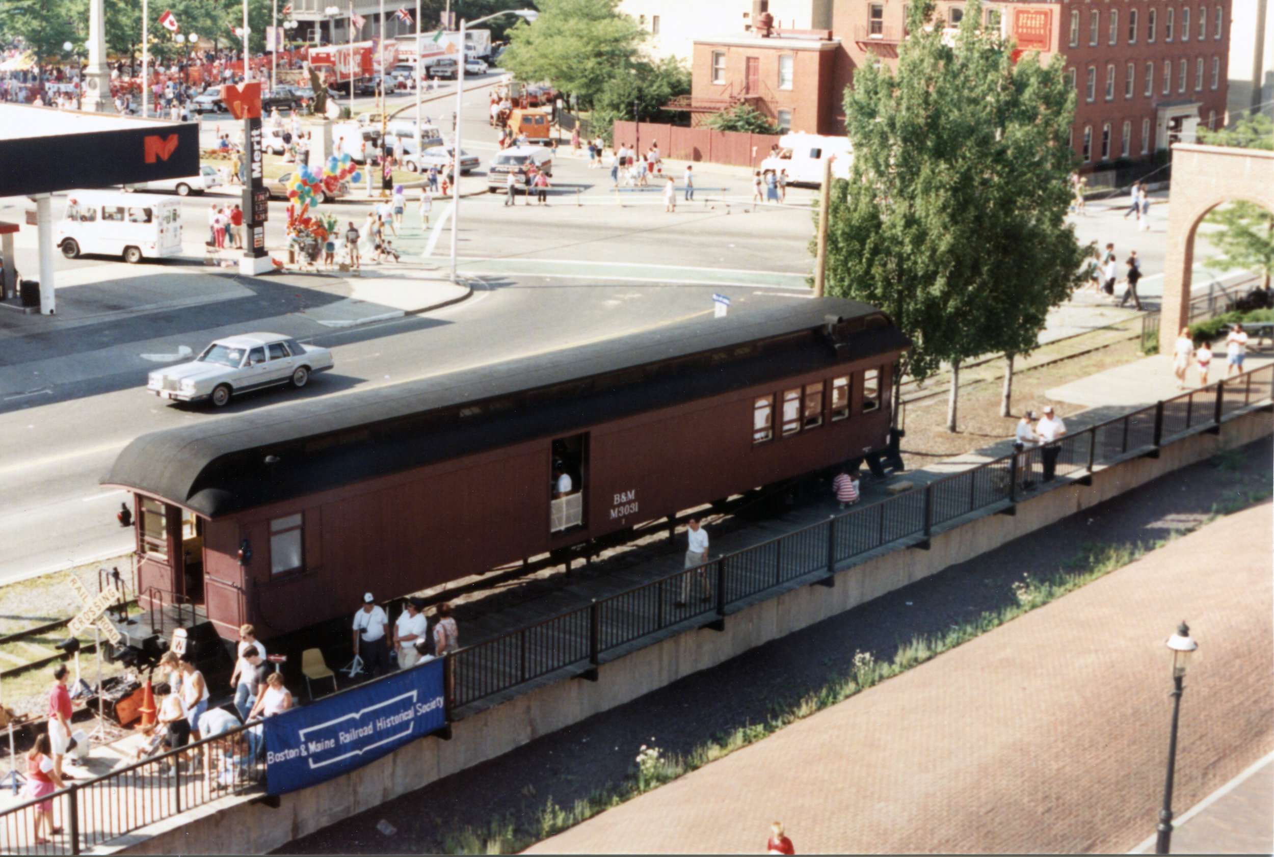 The combine shortly after opening, during the Lowell Folk Festival in 1993.