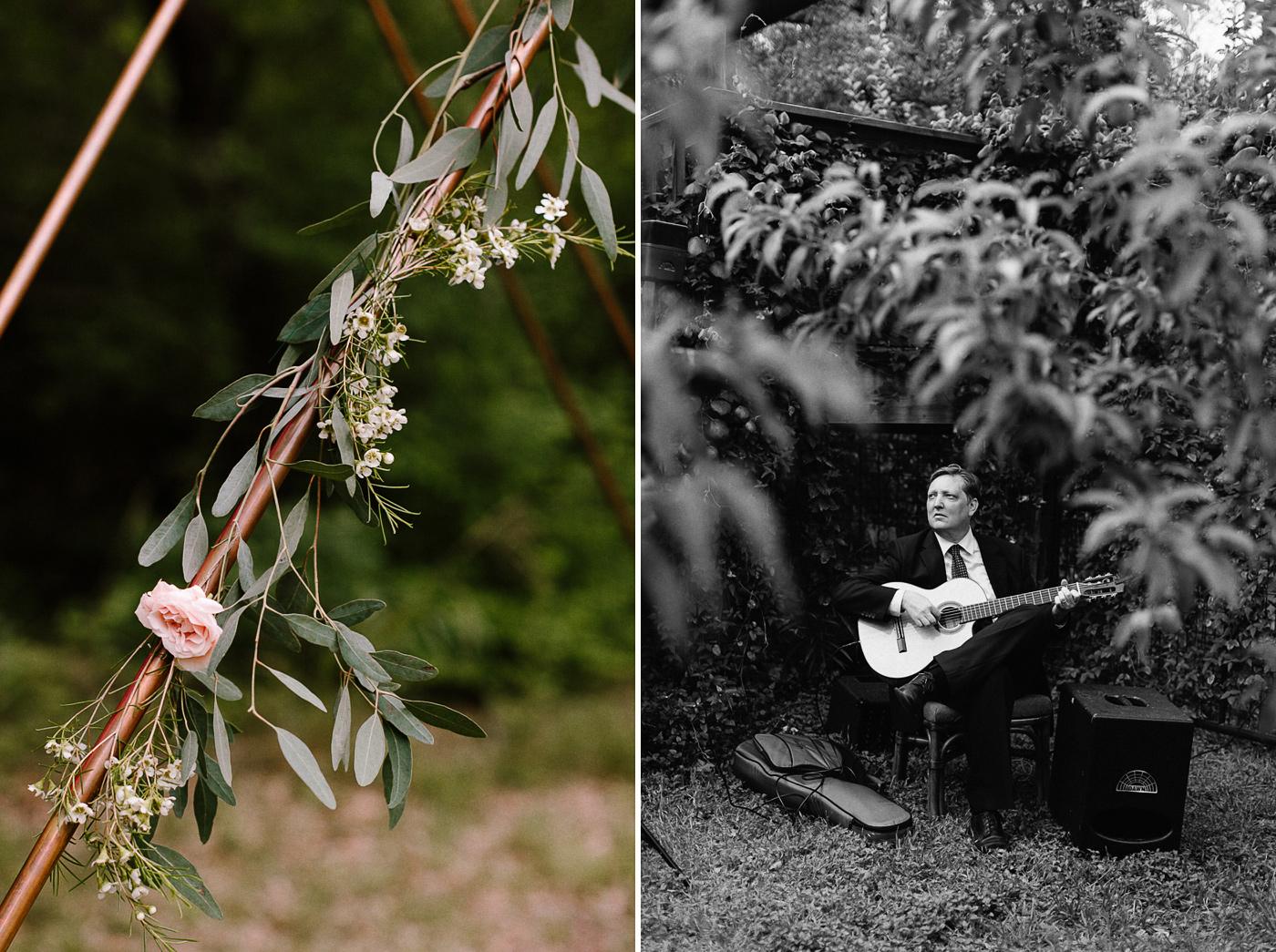 Rural Texas Backyard Wedding Floral Details