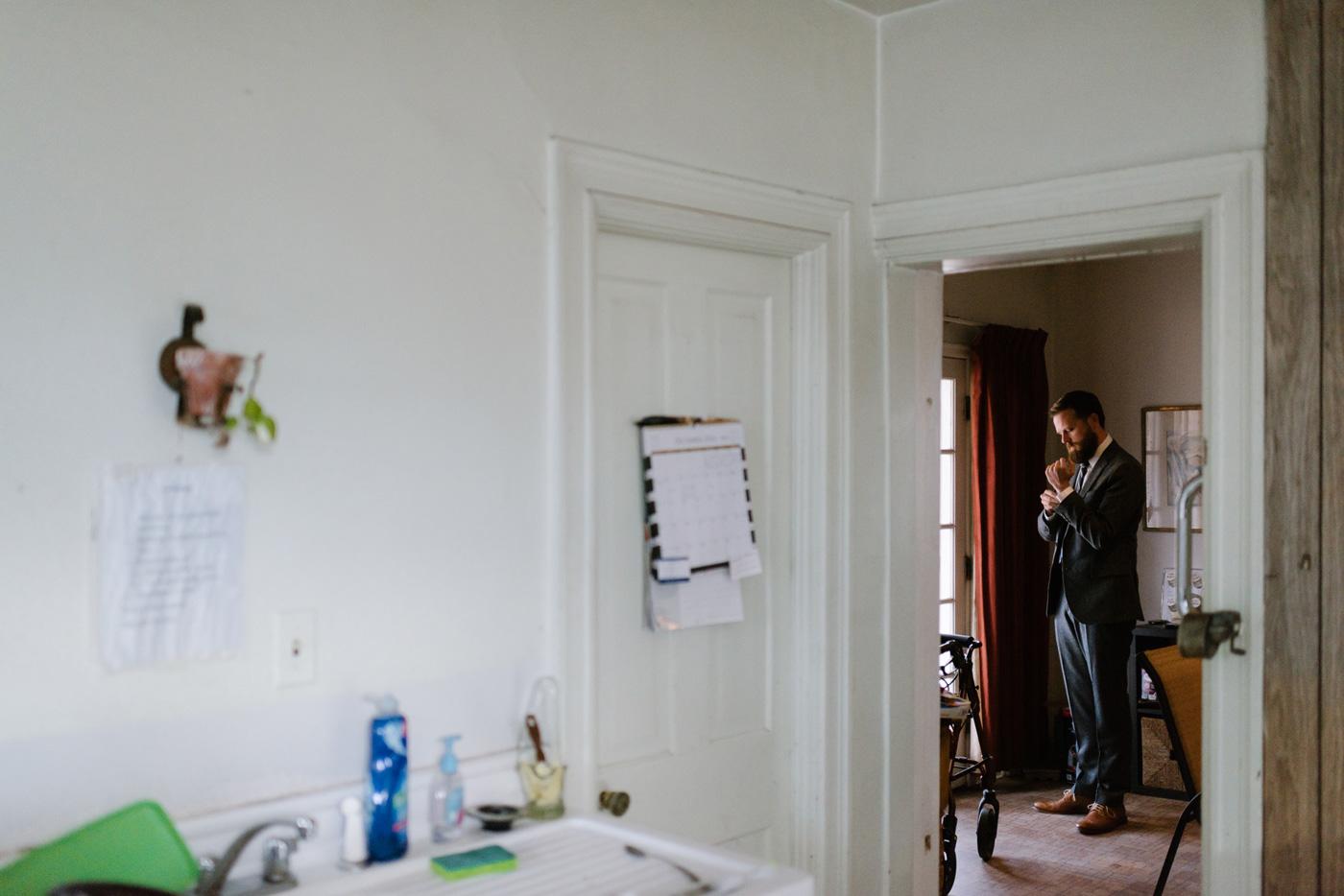 Groom Window Portrait