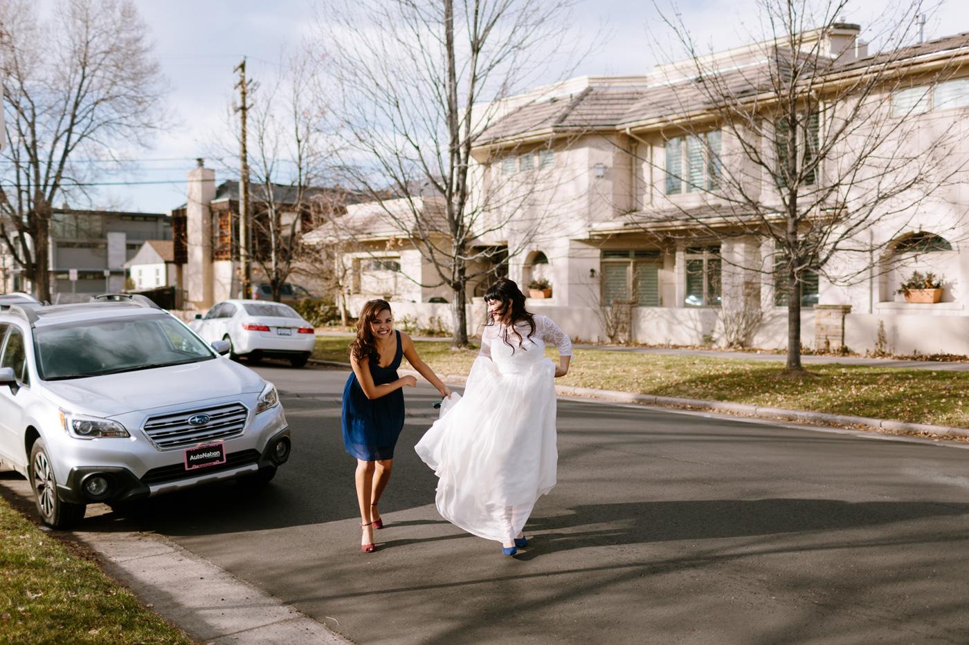 First Look Bride Walking