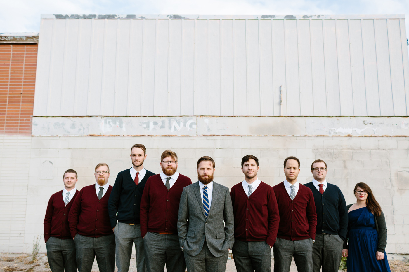 Studios at Overland Crossing Wedding Groom Groomsmen