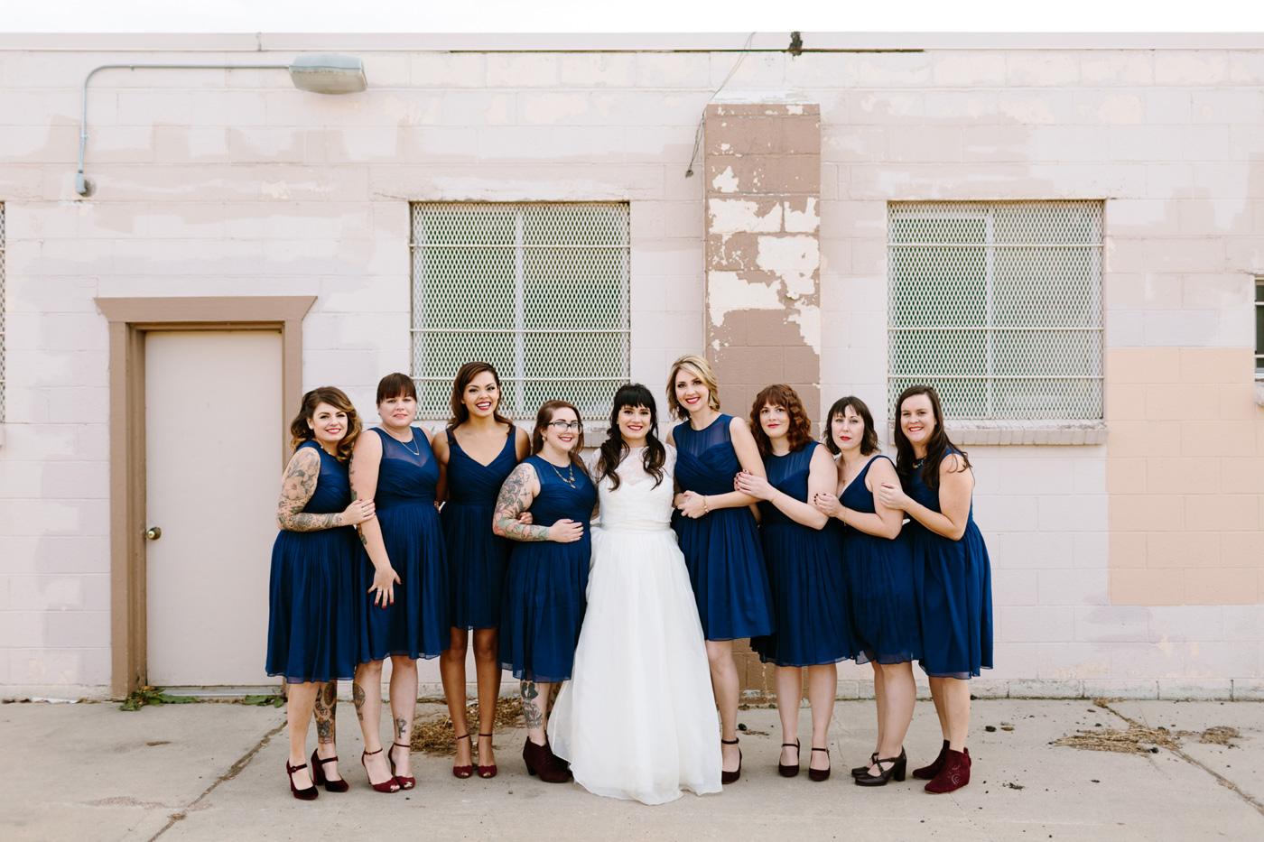 Studios at Overland Crossing Wedding Bride Bridesmaids