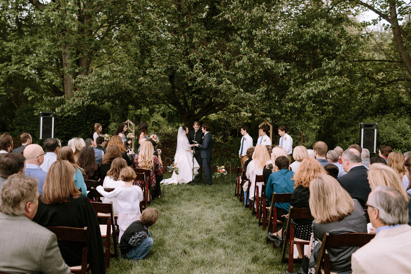 Maryland backyard wedding ceremony