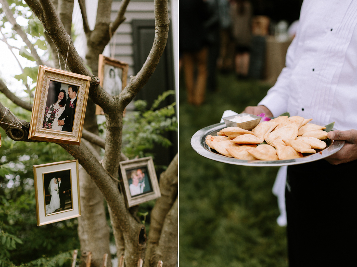 Parents wedding photos and appetizers