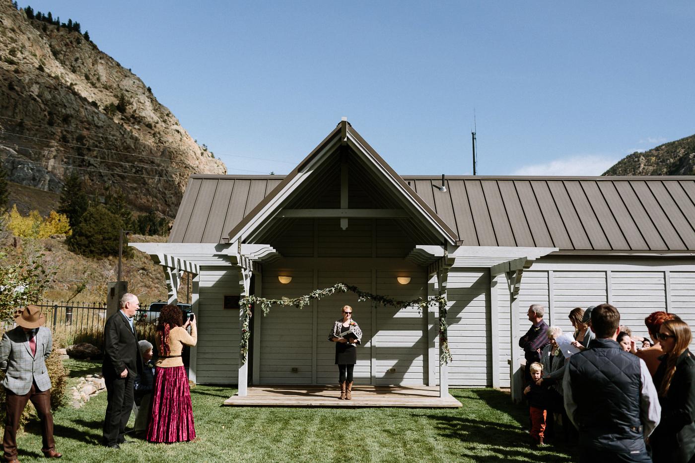 Georgetown Colorado wedding ceremony
