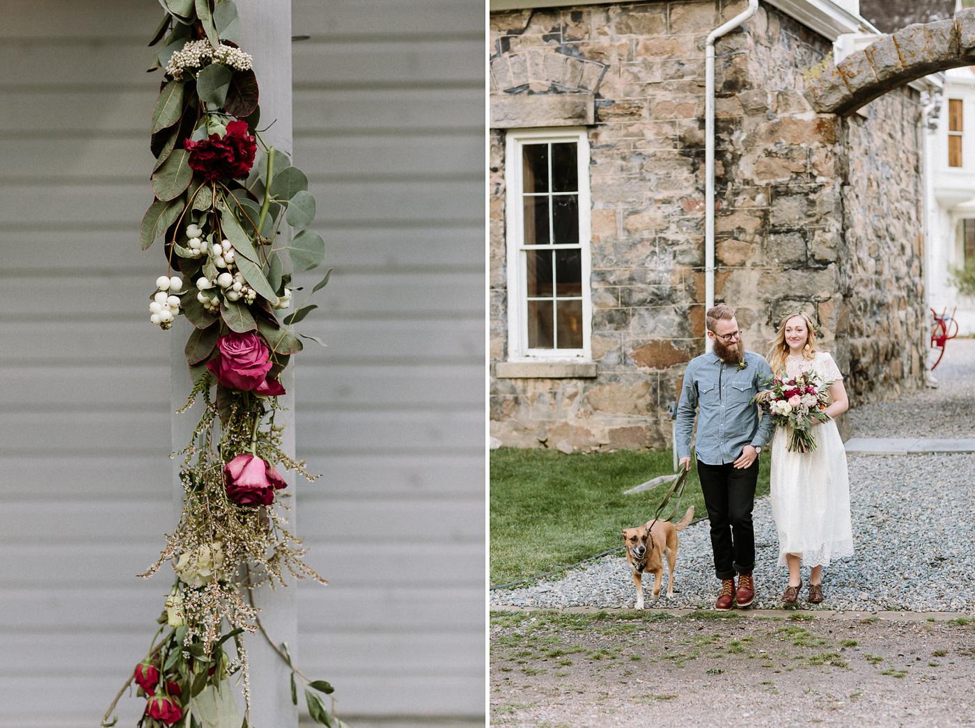 Georgetown flowers wedding ceremony