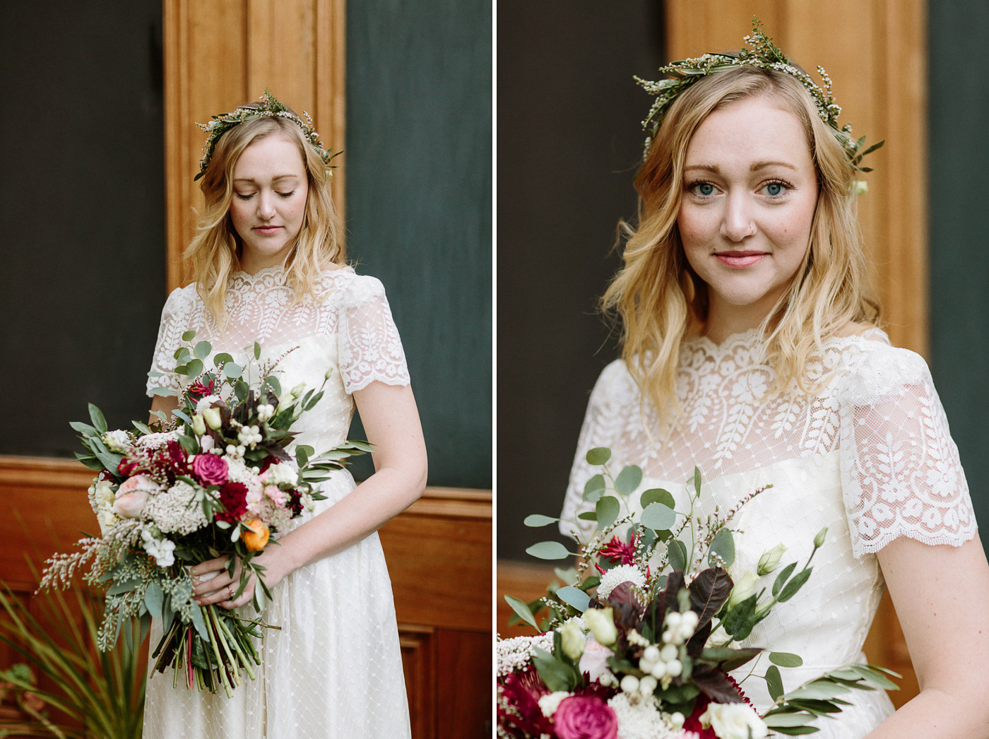 Georgetown Colorado Bride Portrait flowers