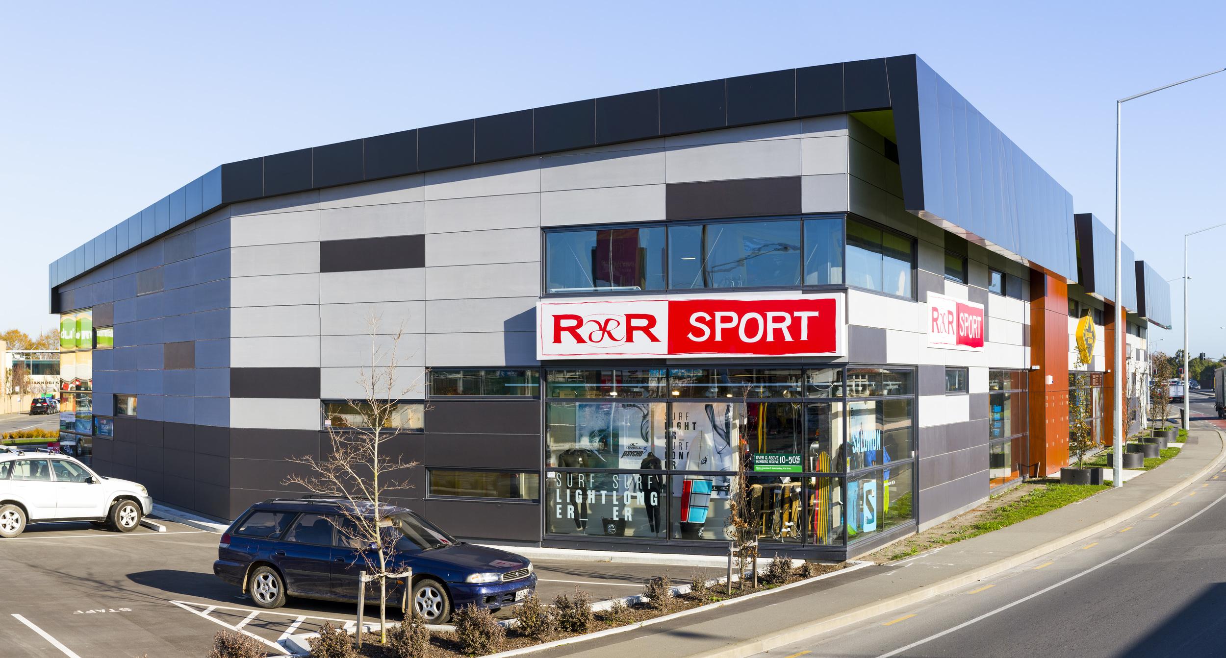 R&R Sport / Mountain Designs / Amazon - 65 Blenheim Road Retail Development, Christchurch