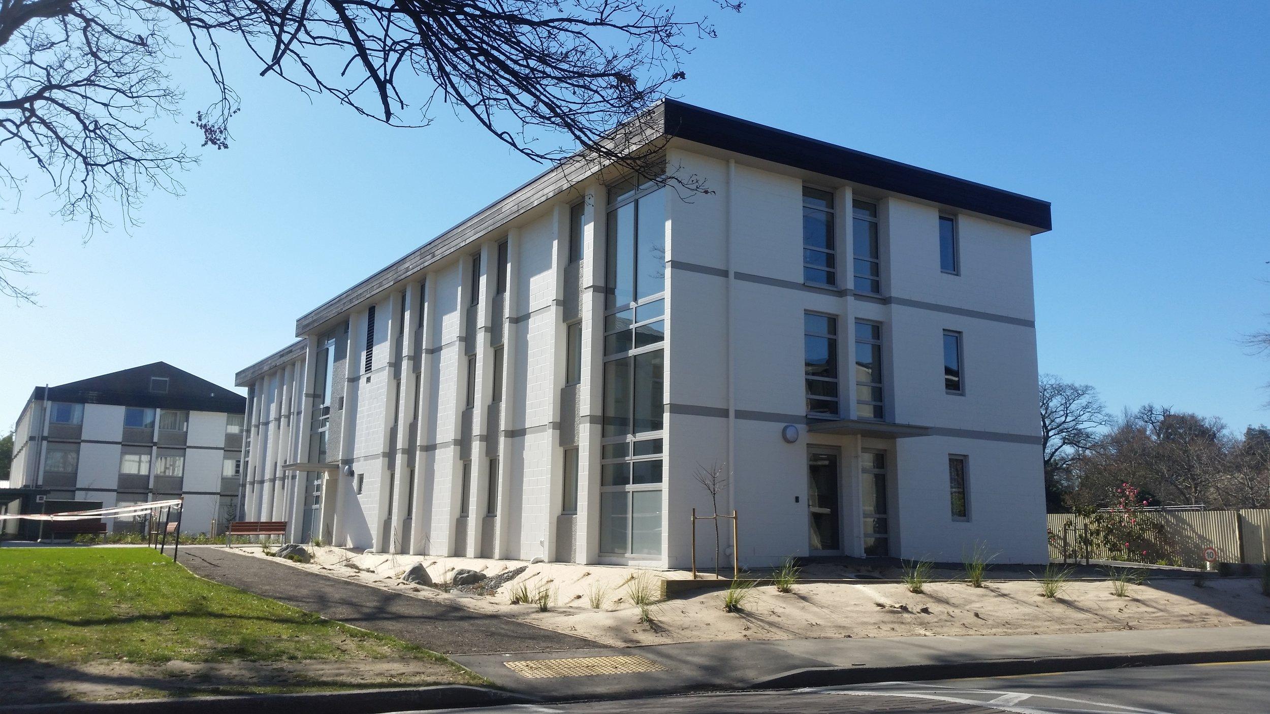 Bishop Julius New Accommodation Block & Miscellaneous Seismic Strengthening, University of Canterbury, Christchurch