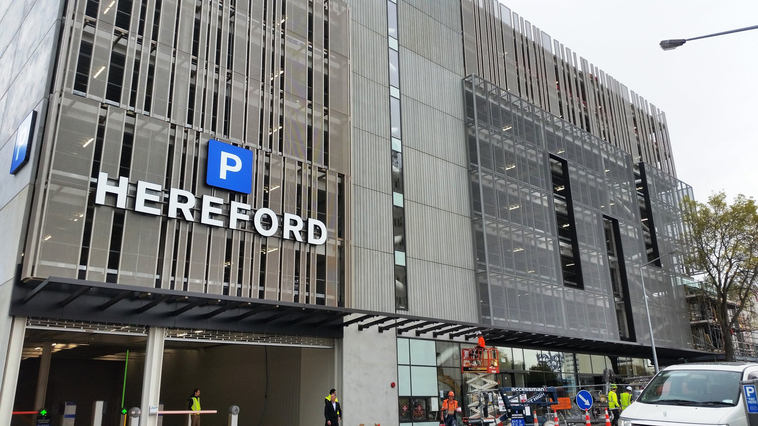 Hereford Street Carpark and Retail Development, Christchurch