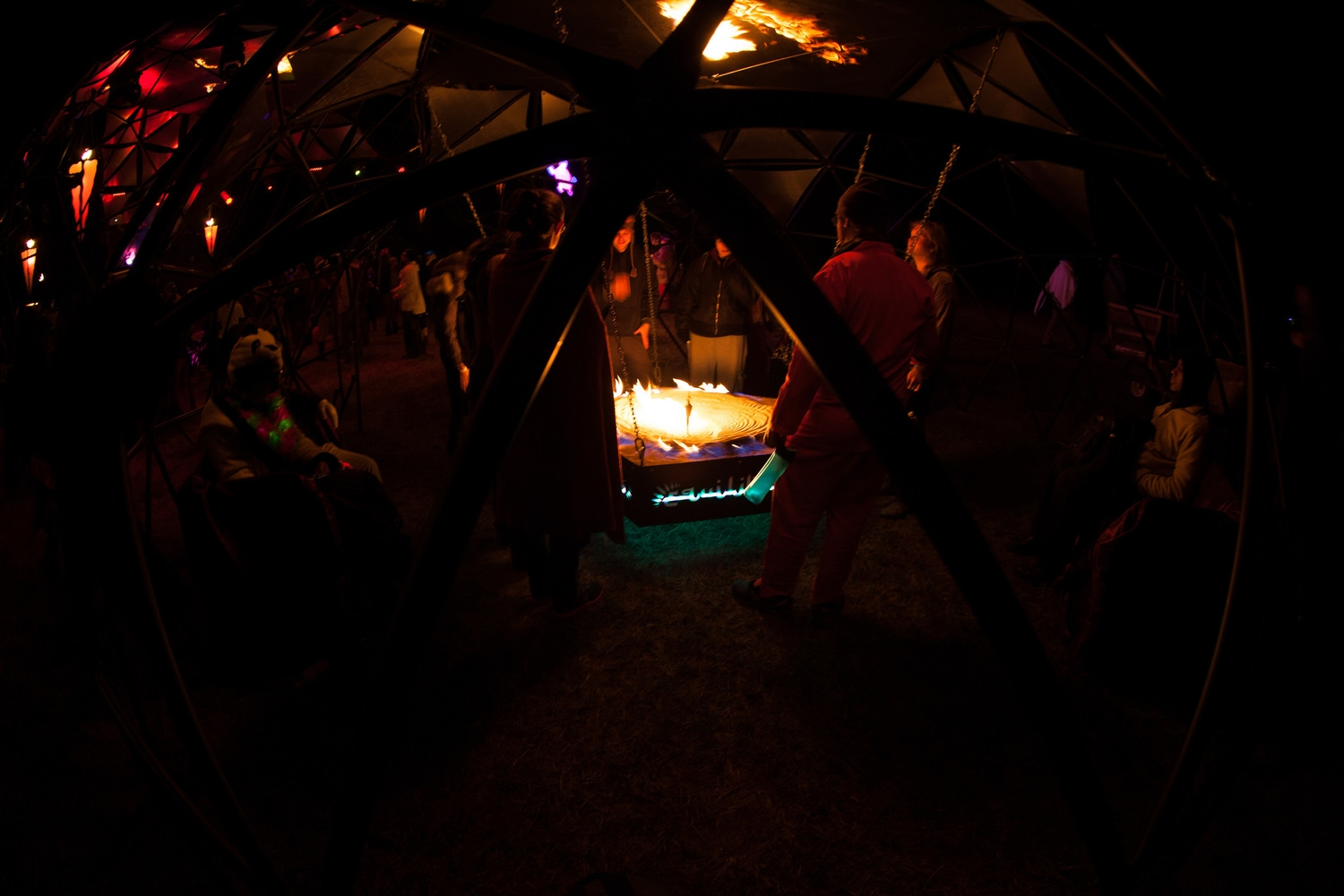 One of Incendia's five peripheral domes filled with revelers