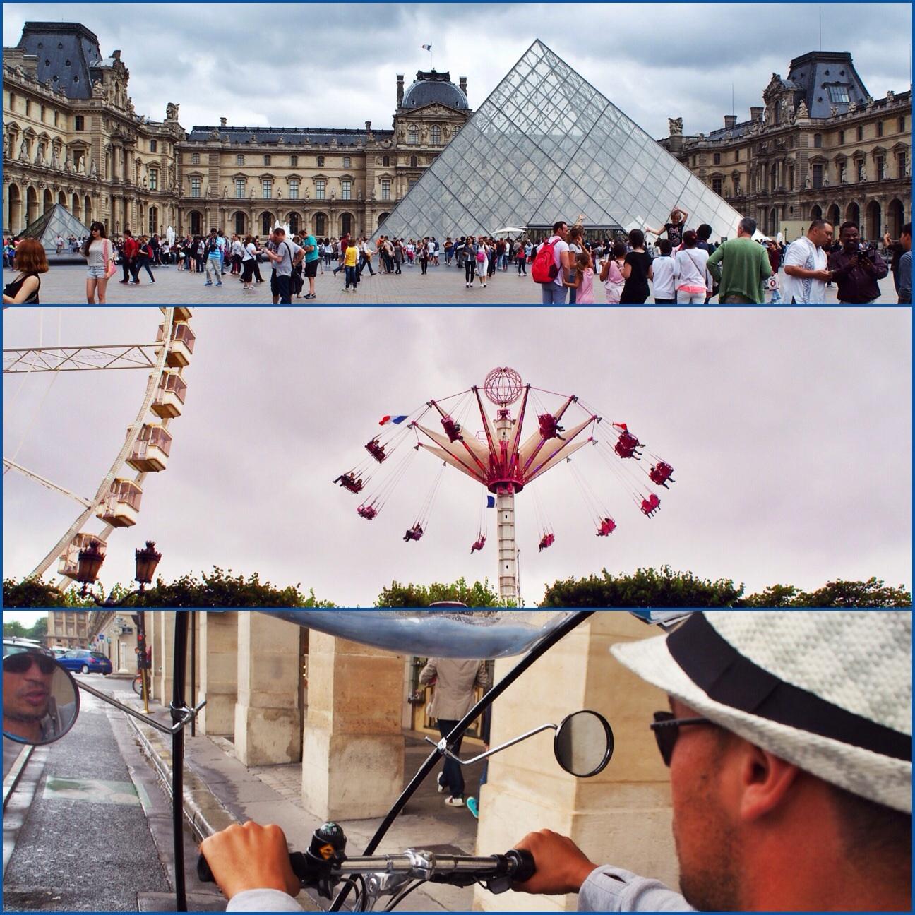 Louvre, Tivoli and our tuk tuk....Taxi:)