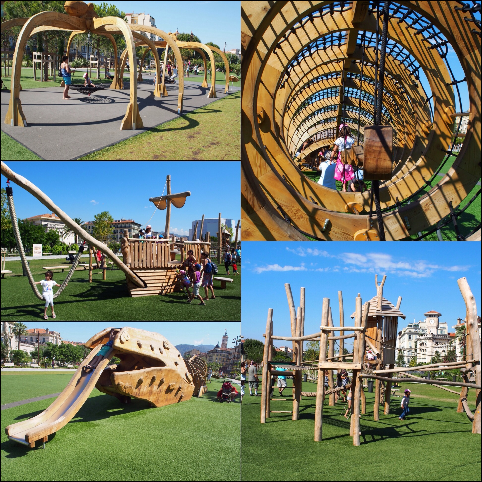 A fraction of the available spaces for kids to play