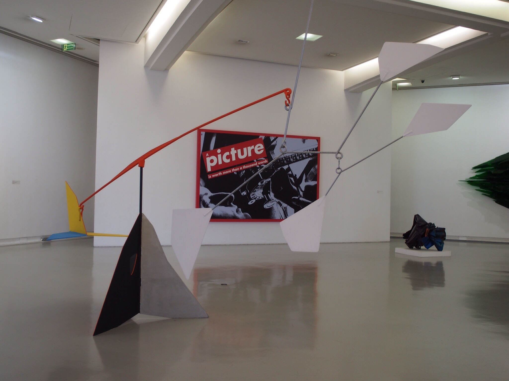 Calder with a Warhol in the background...