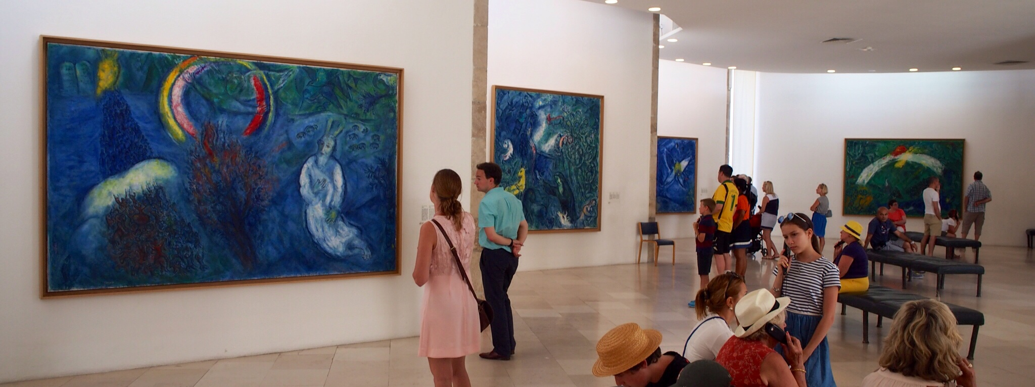 Inside main gallery area Marc Chagall