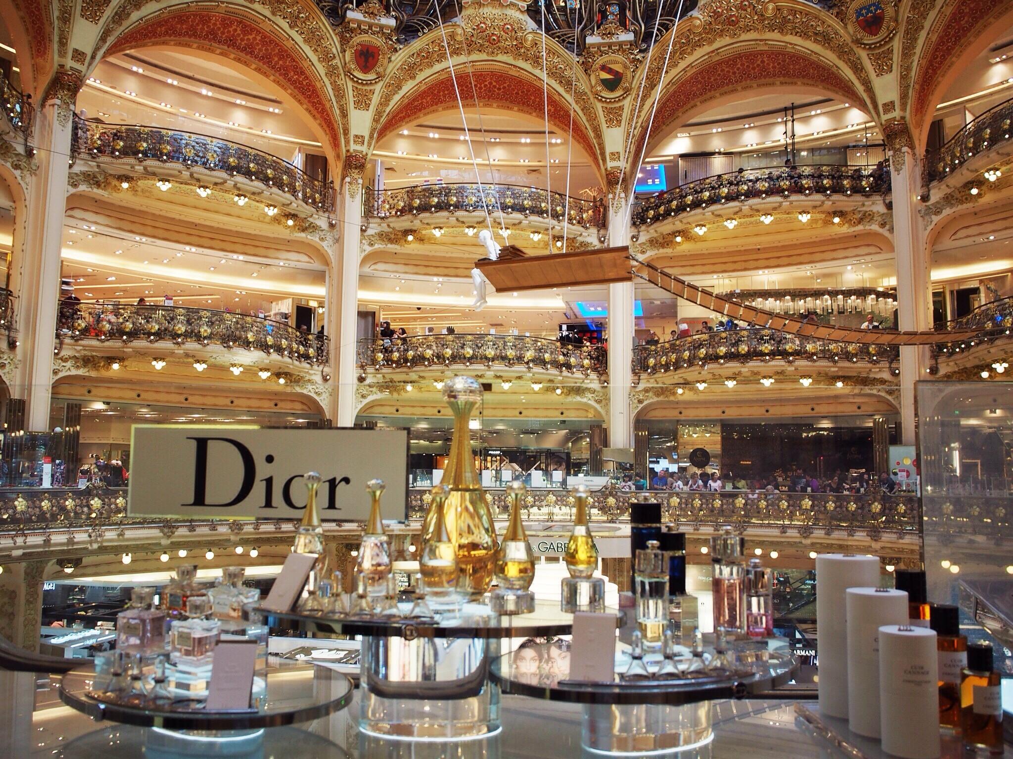 Galeries Lafayette, ten floors of Mecca shopping.