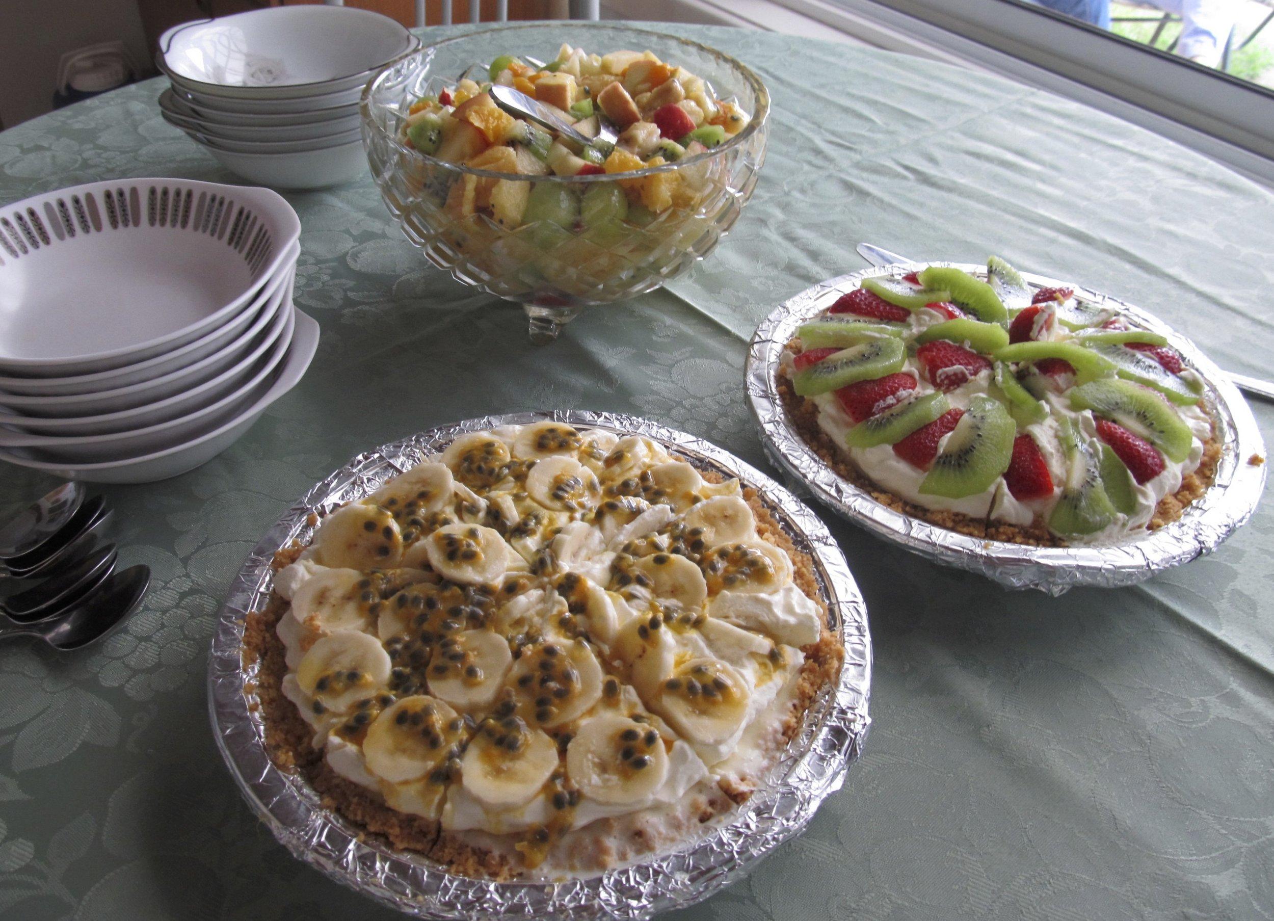 Kathy's Cheese cakes PLUS Grandmas fruit salad!