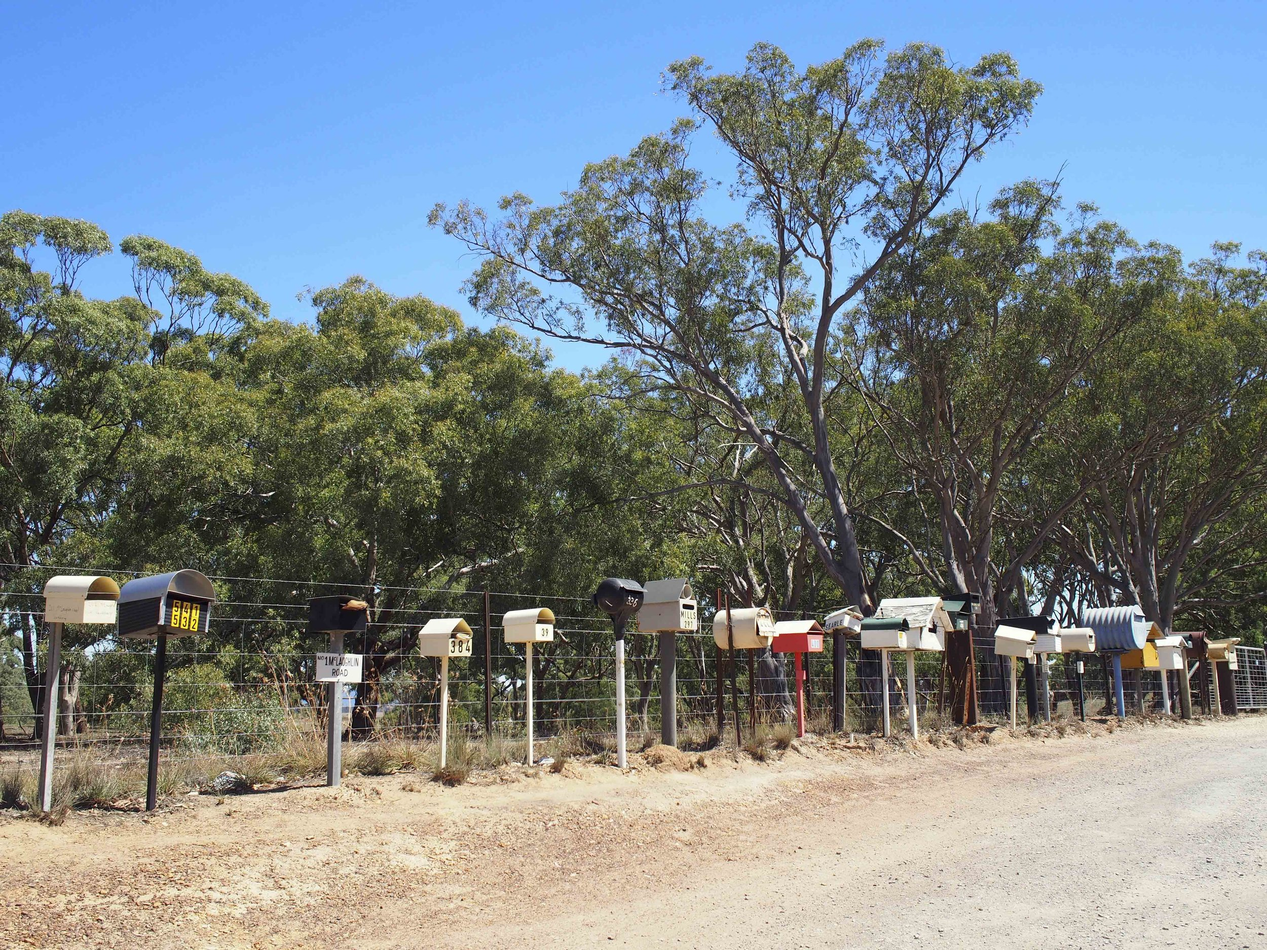 Letterbox alley, along the Bungonia road to Goulburn