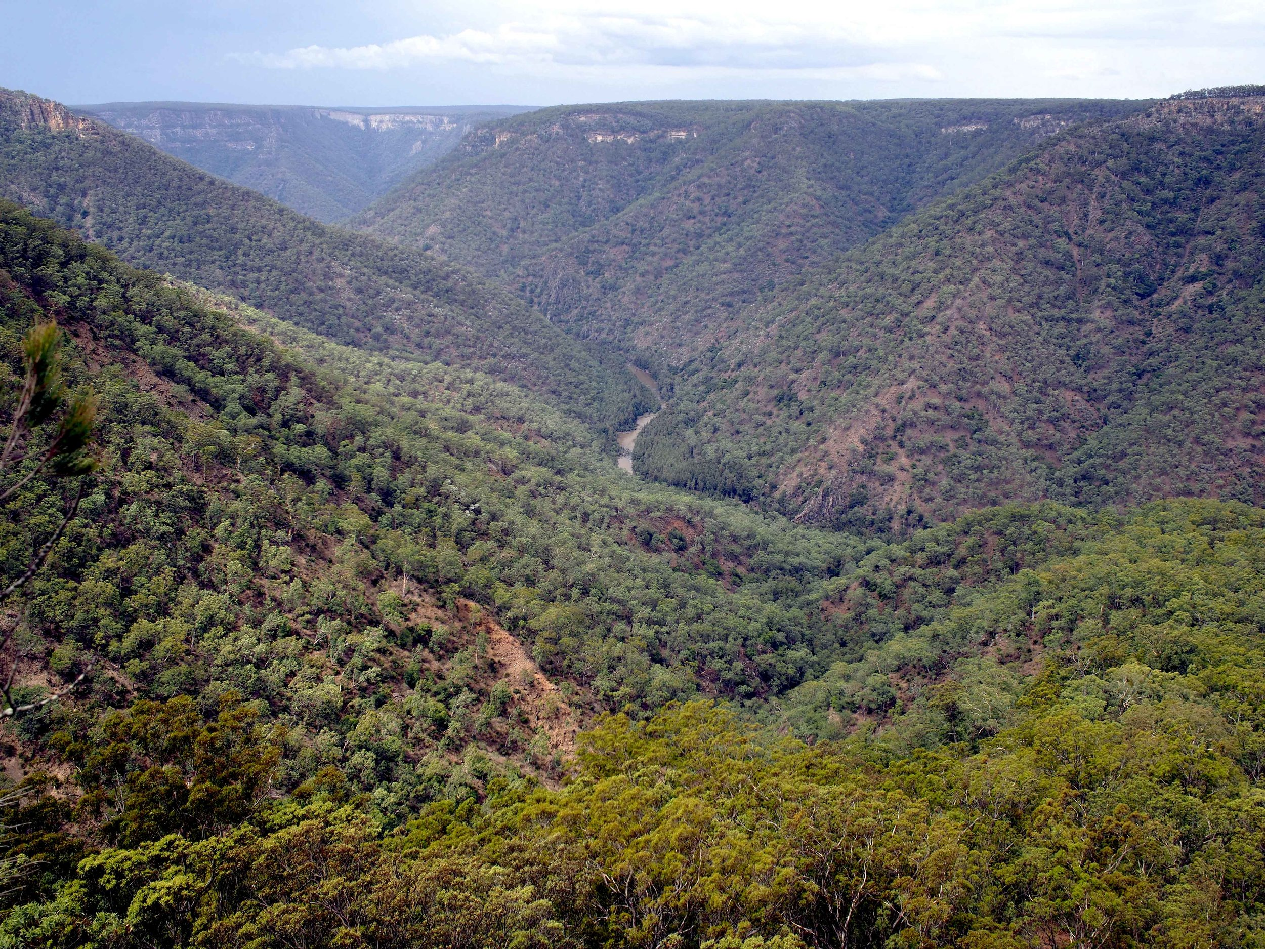 View of the Shoalhaven Gorge from Longpoint lookout near Tallong, NSW