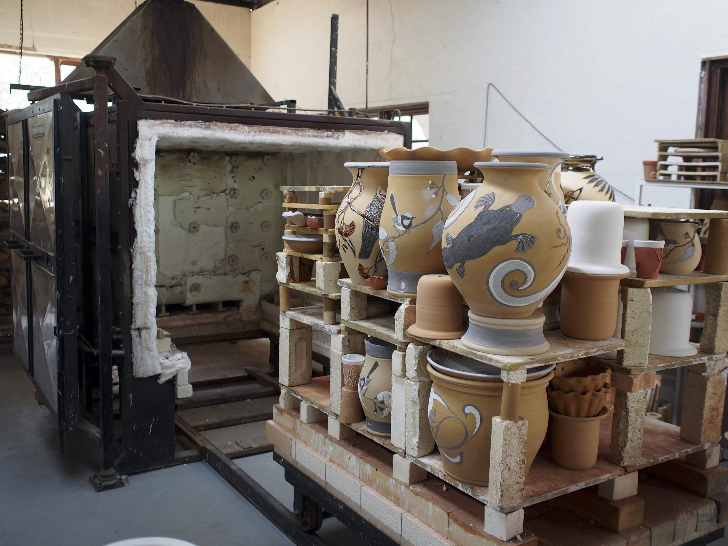 this kiln was the size of a room!!!