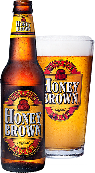 Honey Brown is brewed with barley, hops and pure Manitoba White Clover Honey to produce a great-tasting, medium-bodied lager.  4.5% Lager