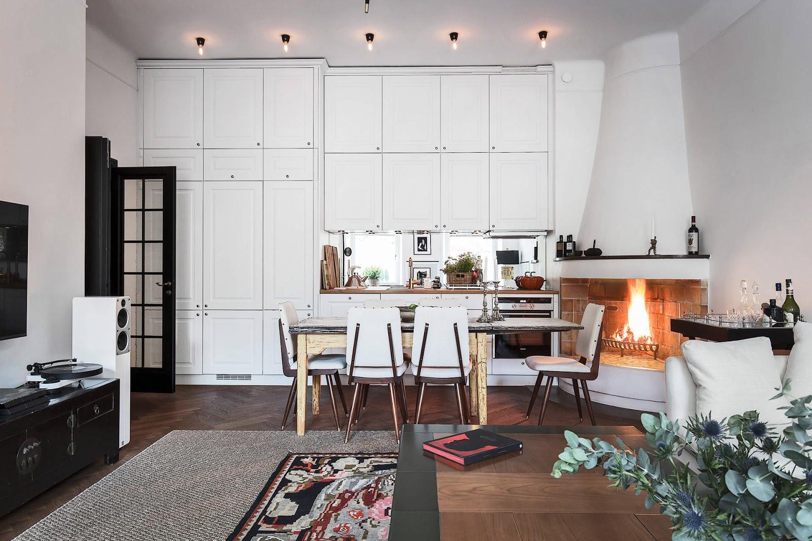 Accente vintage și bucătărie până în tavan într-un apartament de 73 m² 1.jpg