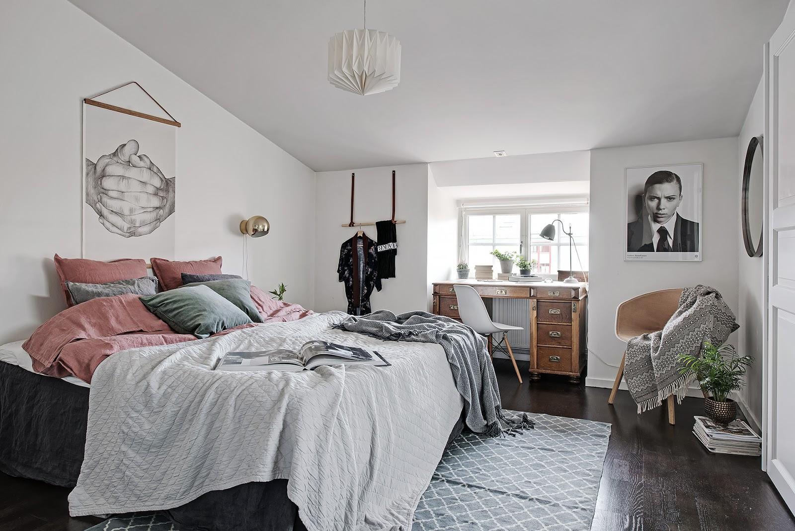 Tonuri de gri în decorul unei mansarde de 62 m² din Suedia  8.jpeg