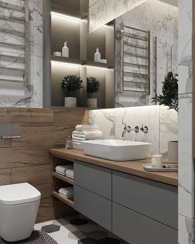 Оформление ванной комнаты — процесс не менее важный, чем декор жилых помещений. Обстановка в таком пространстве должна быть свежей и уютной. Именно такой и стала эта ванная комната. Подстолье выполнено из МДФ+эмаль, столешница массив ясеня. ⠀ Что вам нравиться в данном интерьере? ⠀ 💻Для расчета стоимости изделий по вашим размерам: ☎️+7 (495) 774-34-02 📩info@arthunter.ru 📍Духовской пер. 17, стр.10, лофт Arthunter