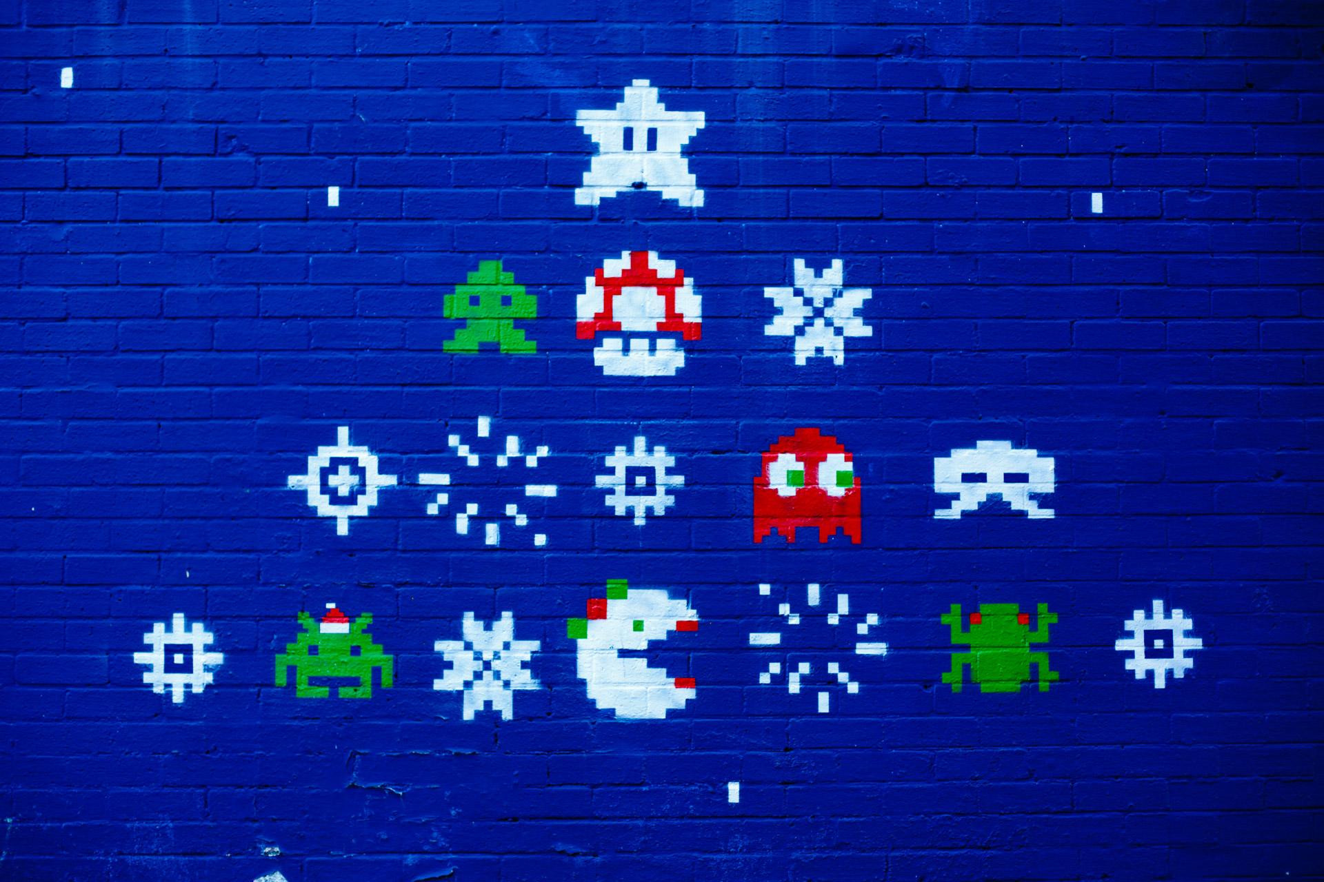 Retro-gaming grafitti.