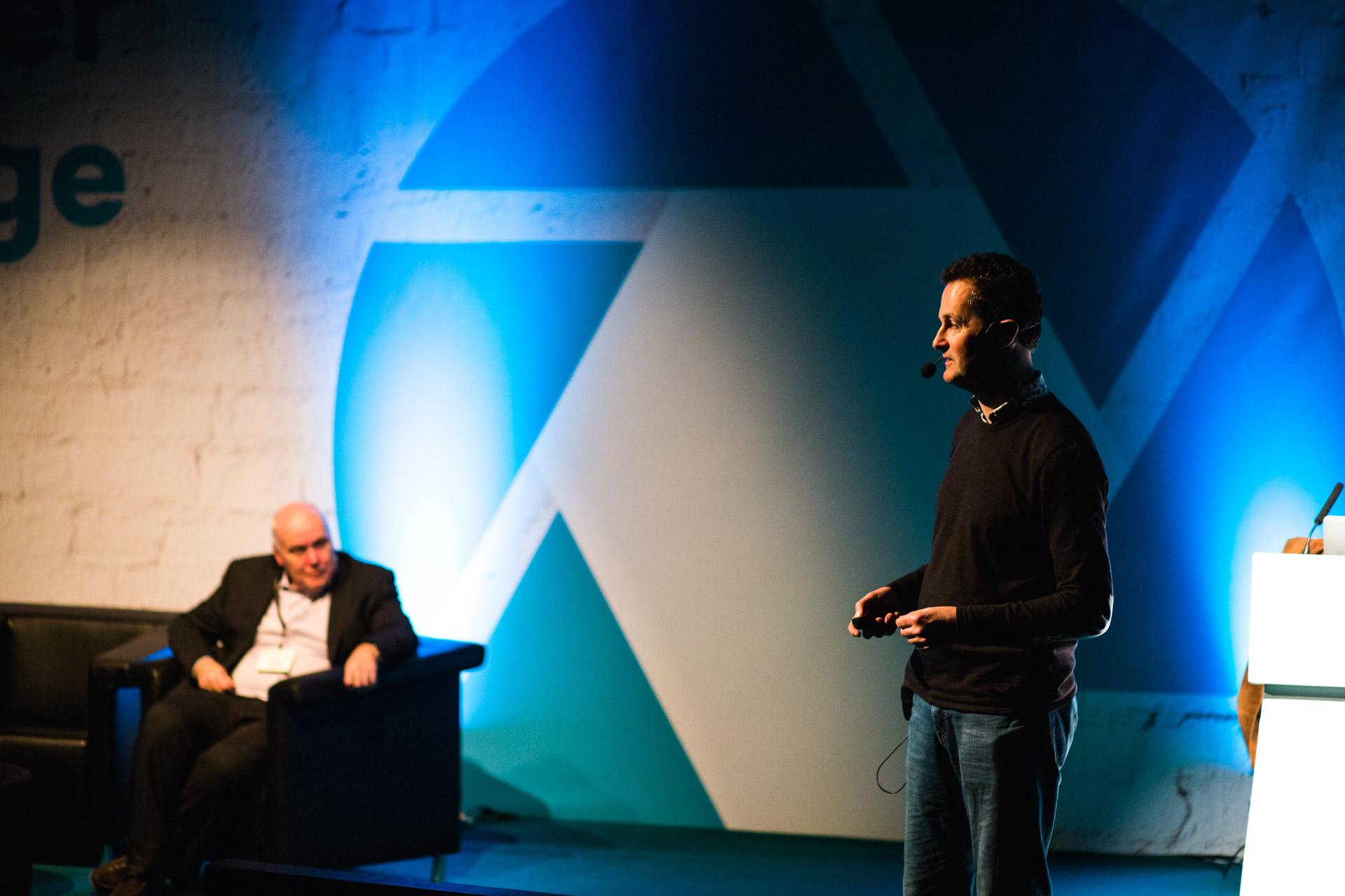 Tim Flach during his talk.