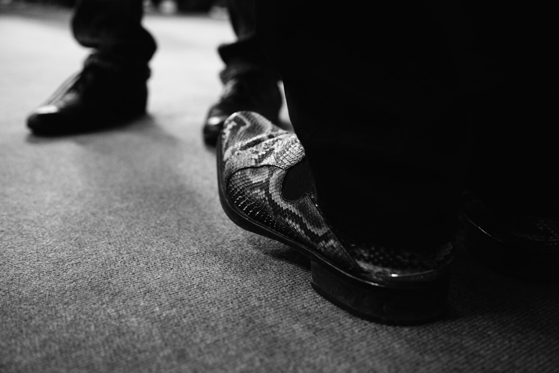 After Michael Kenna's talk on the Super Stage I sat on the ground to make notes. As he stopped right in front of me I couldn't help notice his shoes!